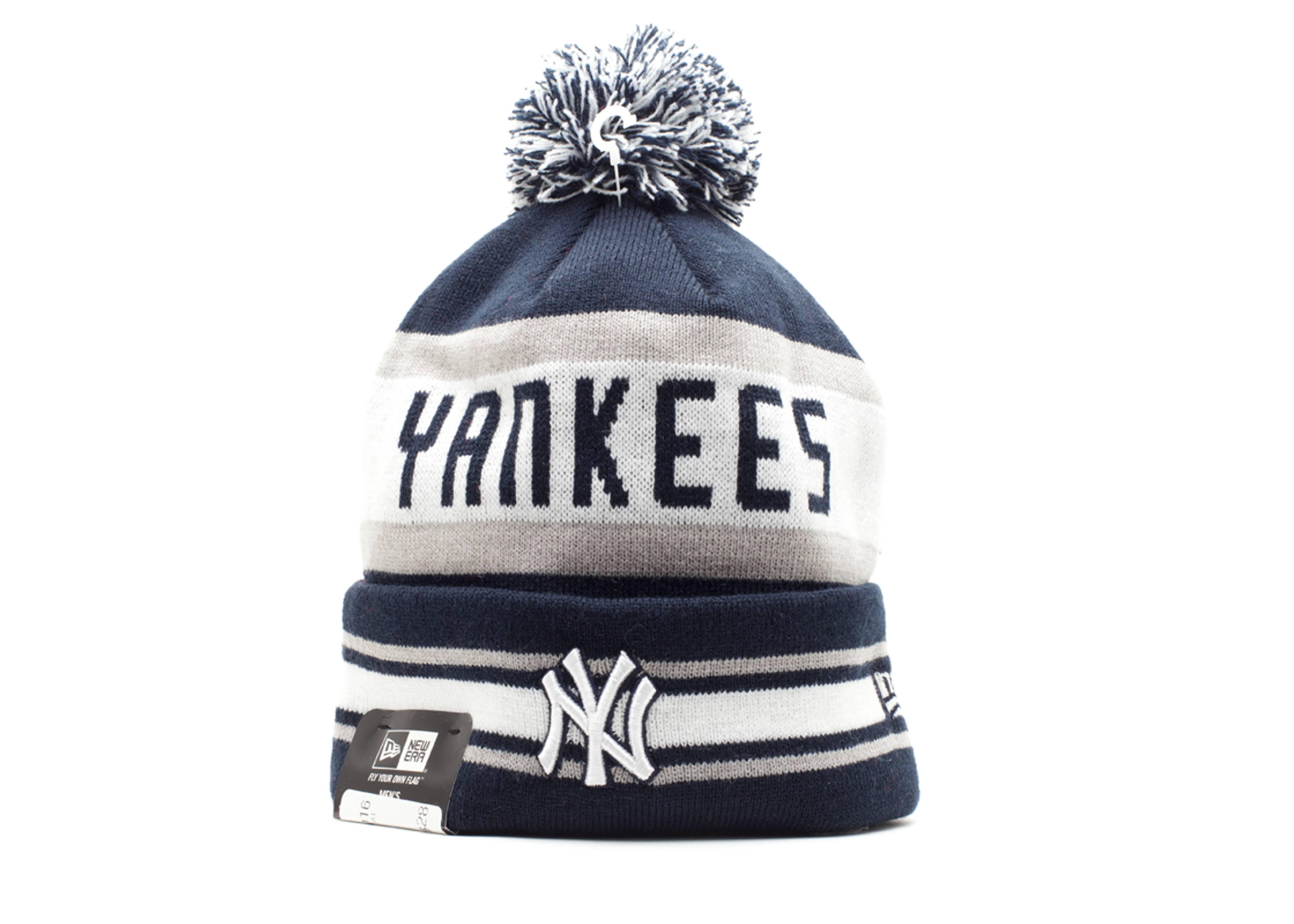 new york yankees cuffed pom knit beanie