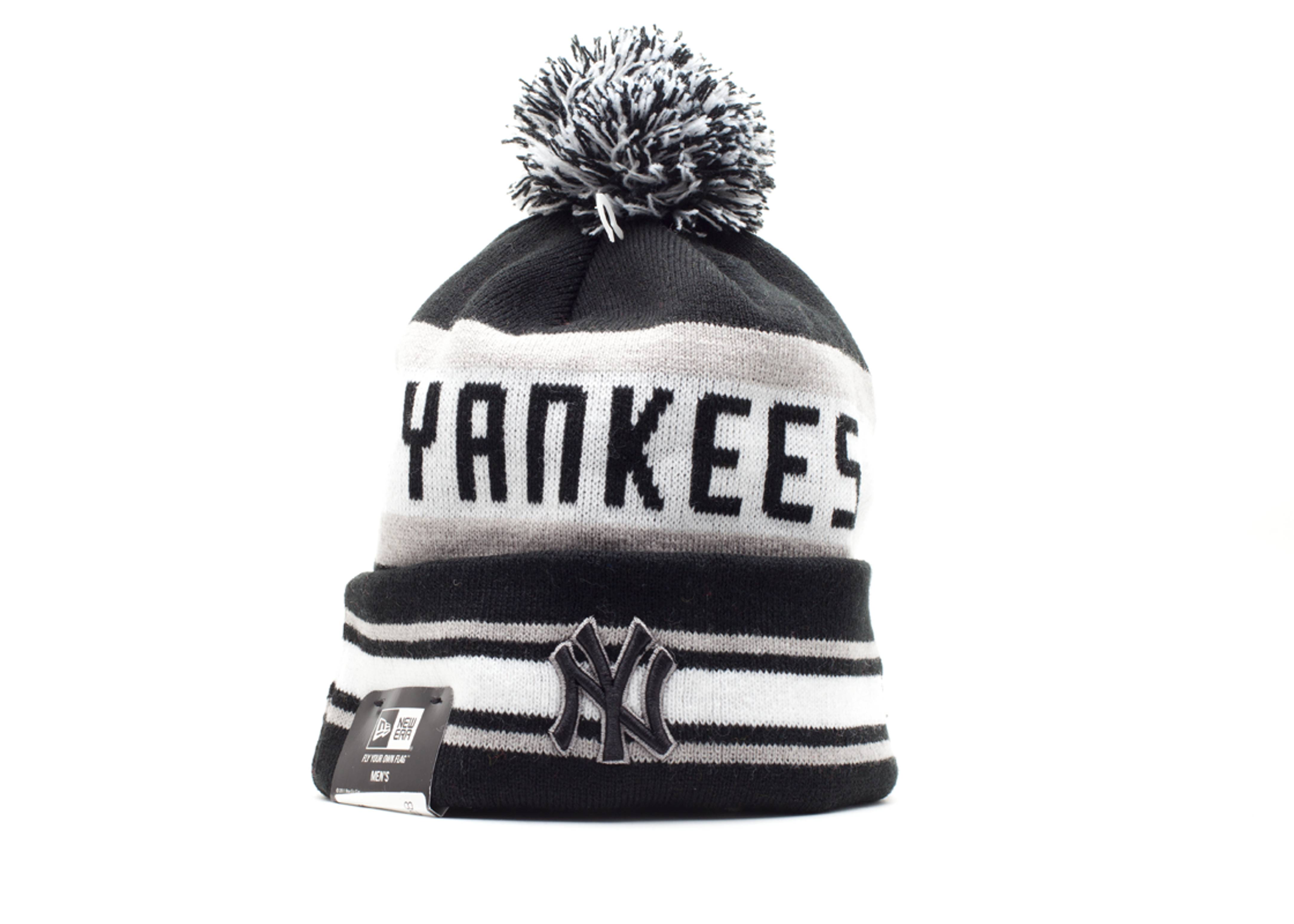 new york yankees cuffed pom knit beanie