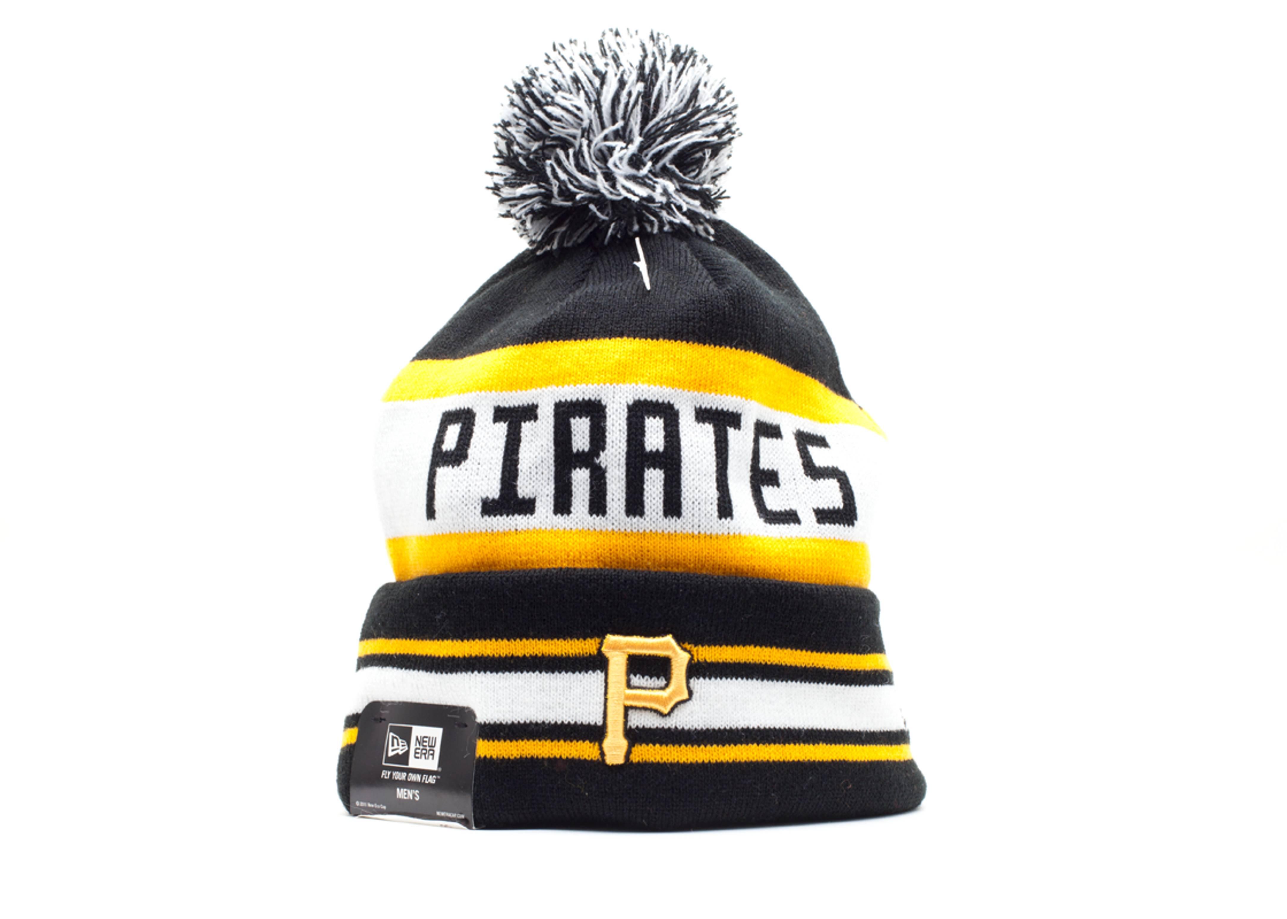 pittsburg pirates cuffed pom knit beanie
