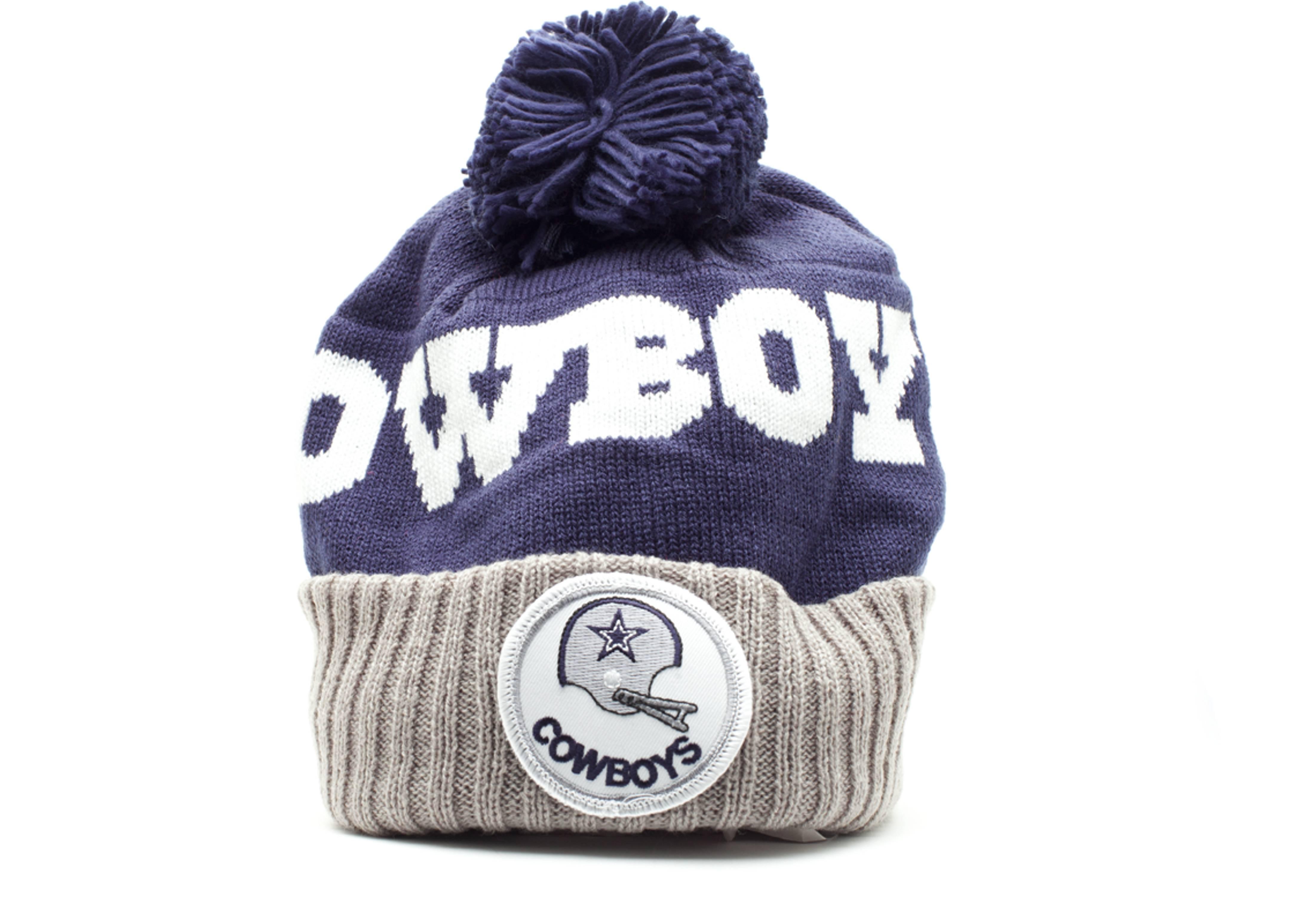 dallas cowboys cuffed pom knit beanie
