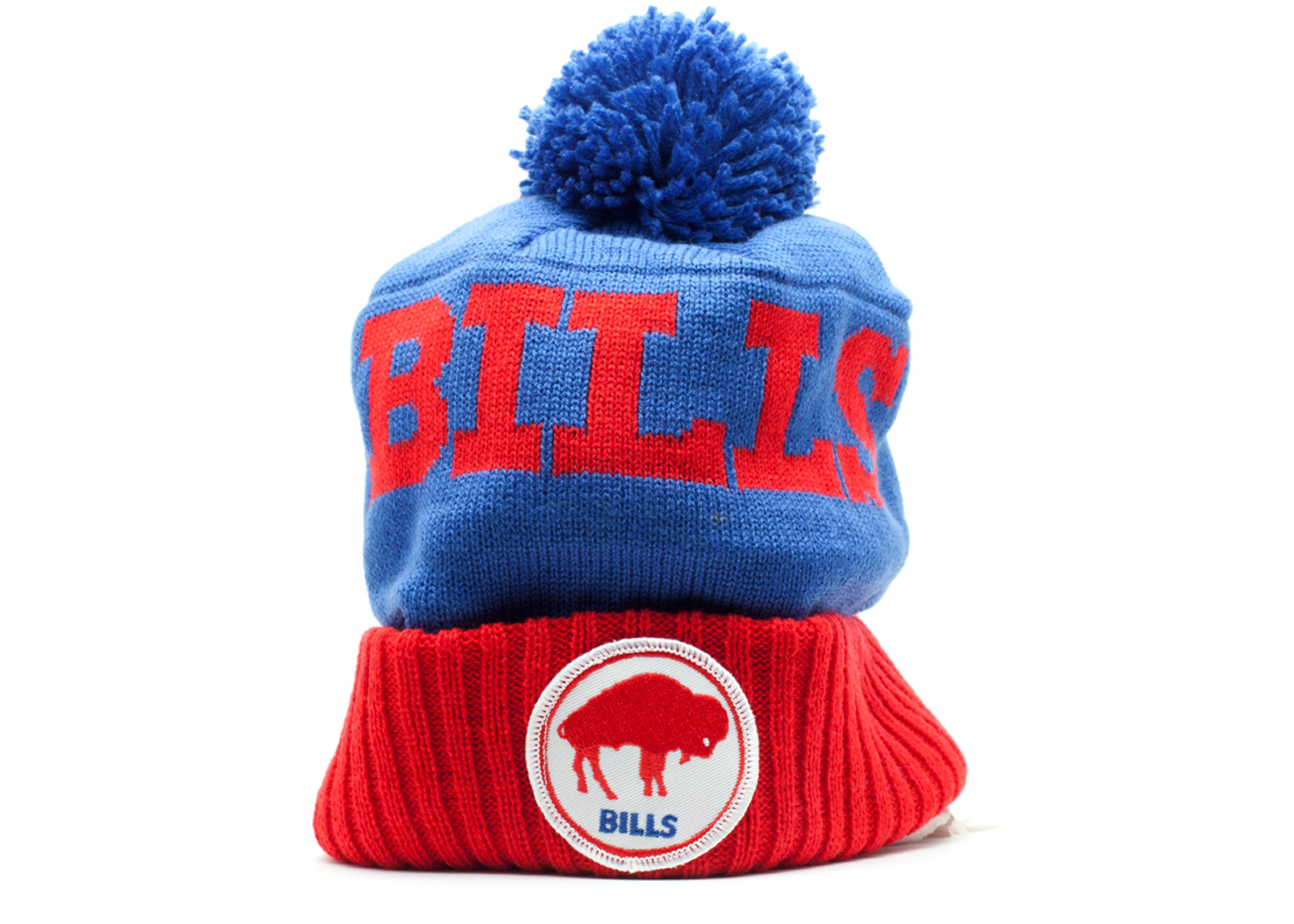 buffalo bills cuffed pom knit beanie