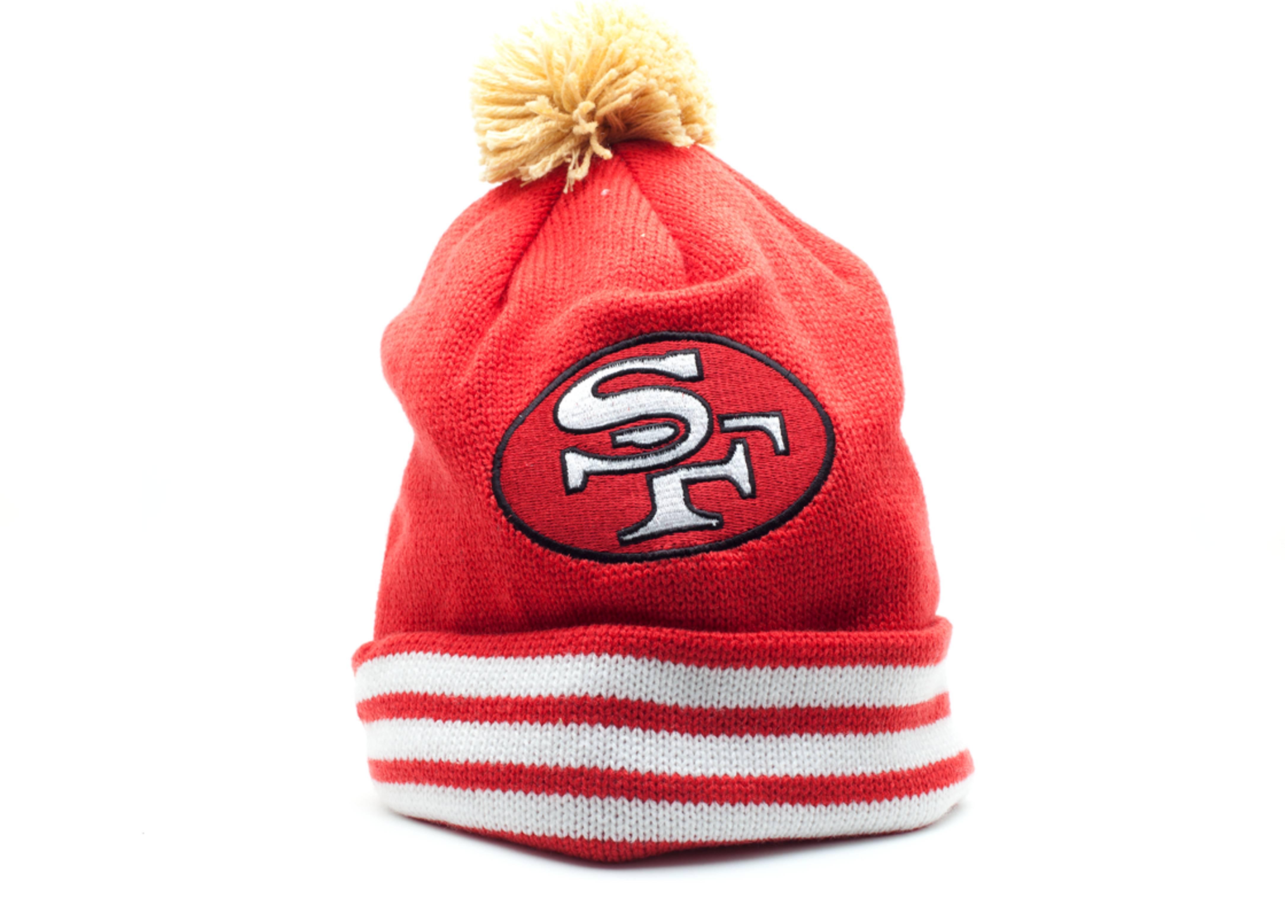 san francisco 49ers cuffed pom knit beanie