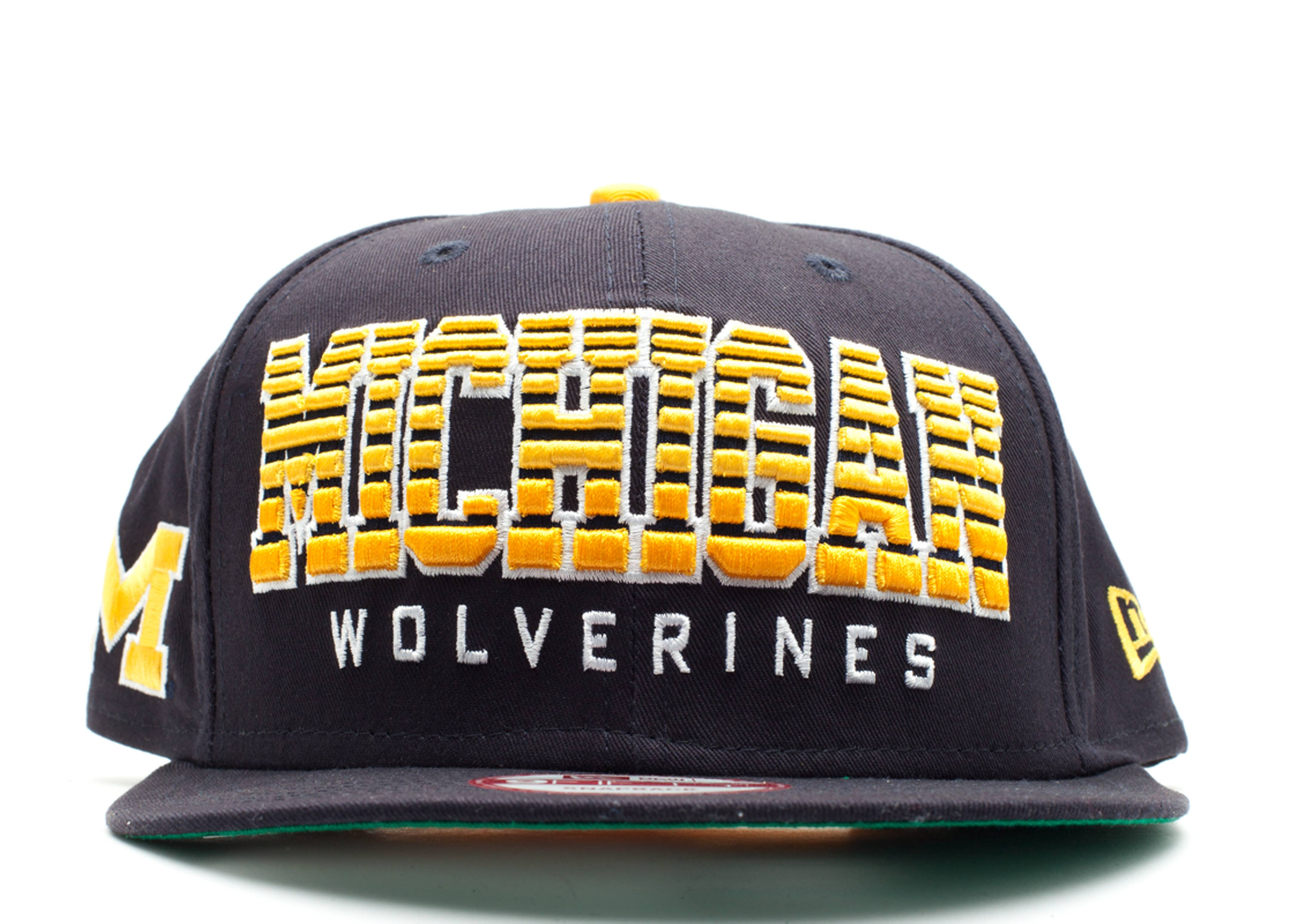 michigan state wolverines fade snap-back