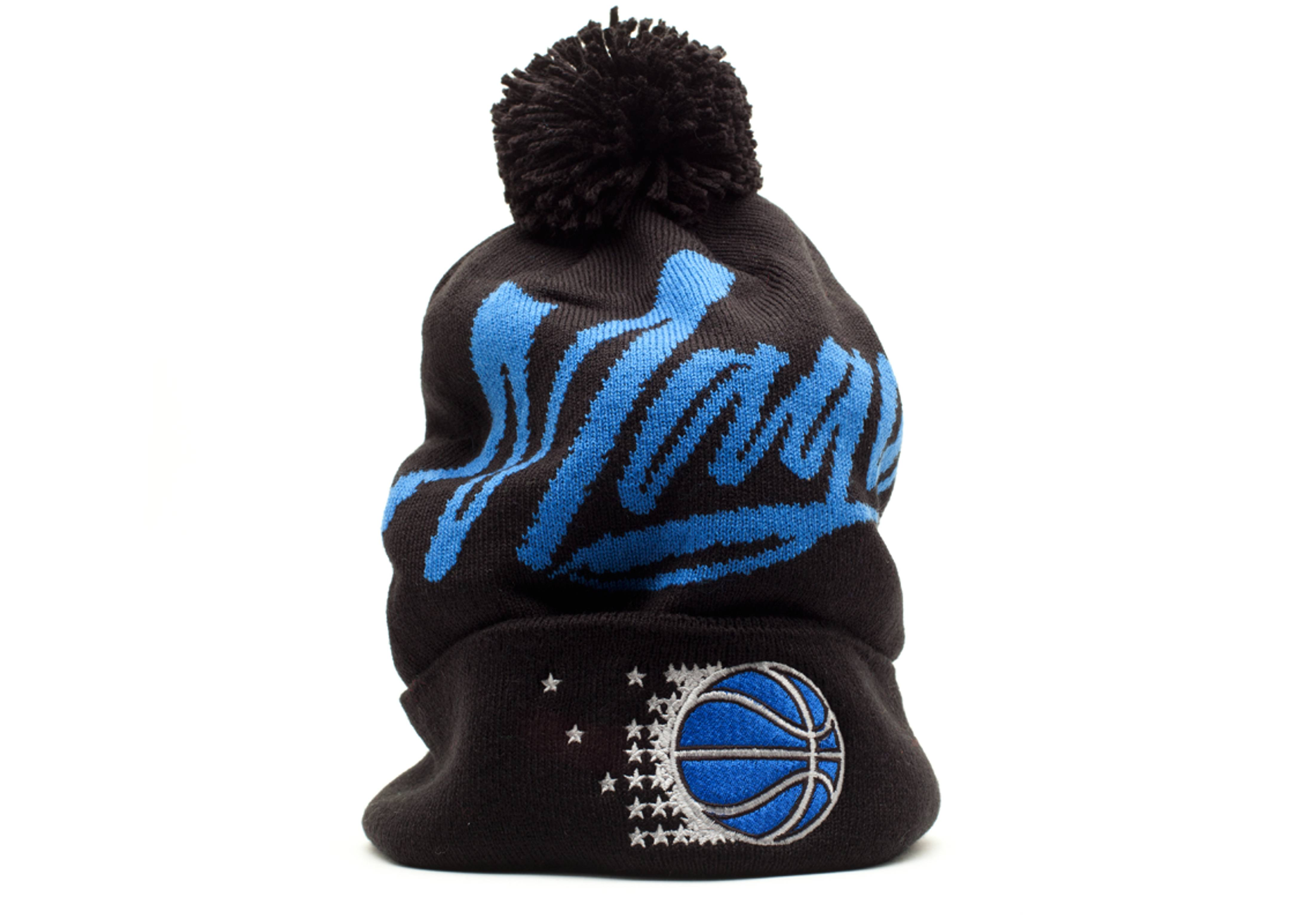 orlando magic cuffed pom knit beanie