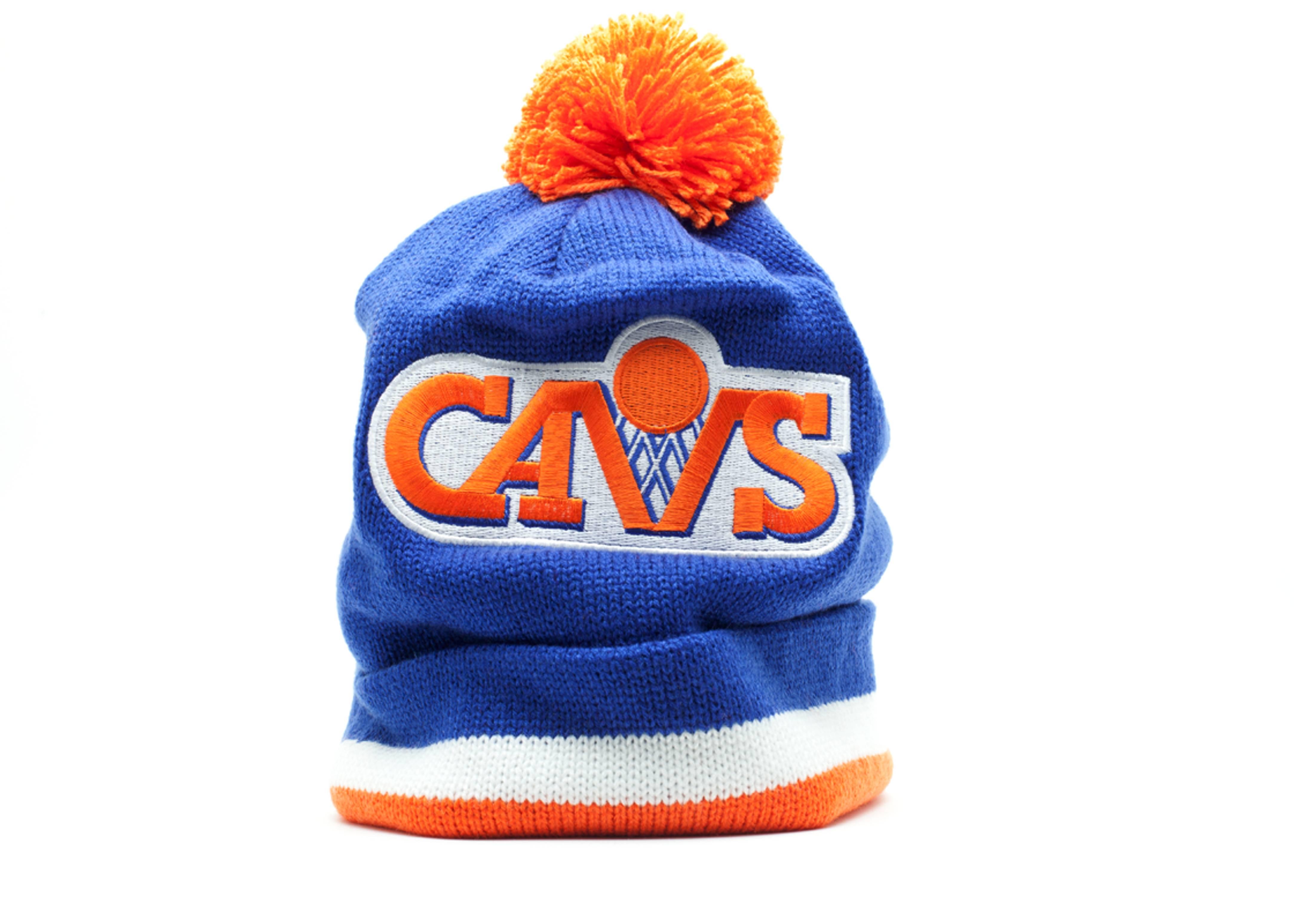 cleveland cavaliers cuffed pom knit beanie