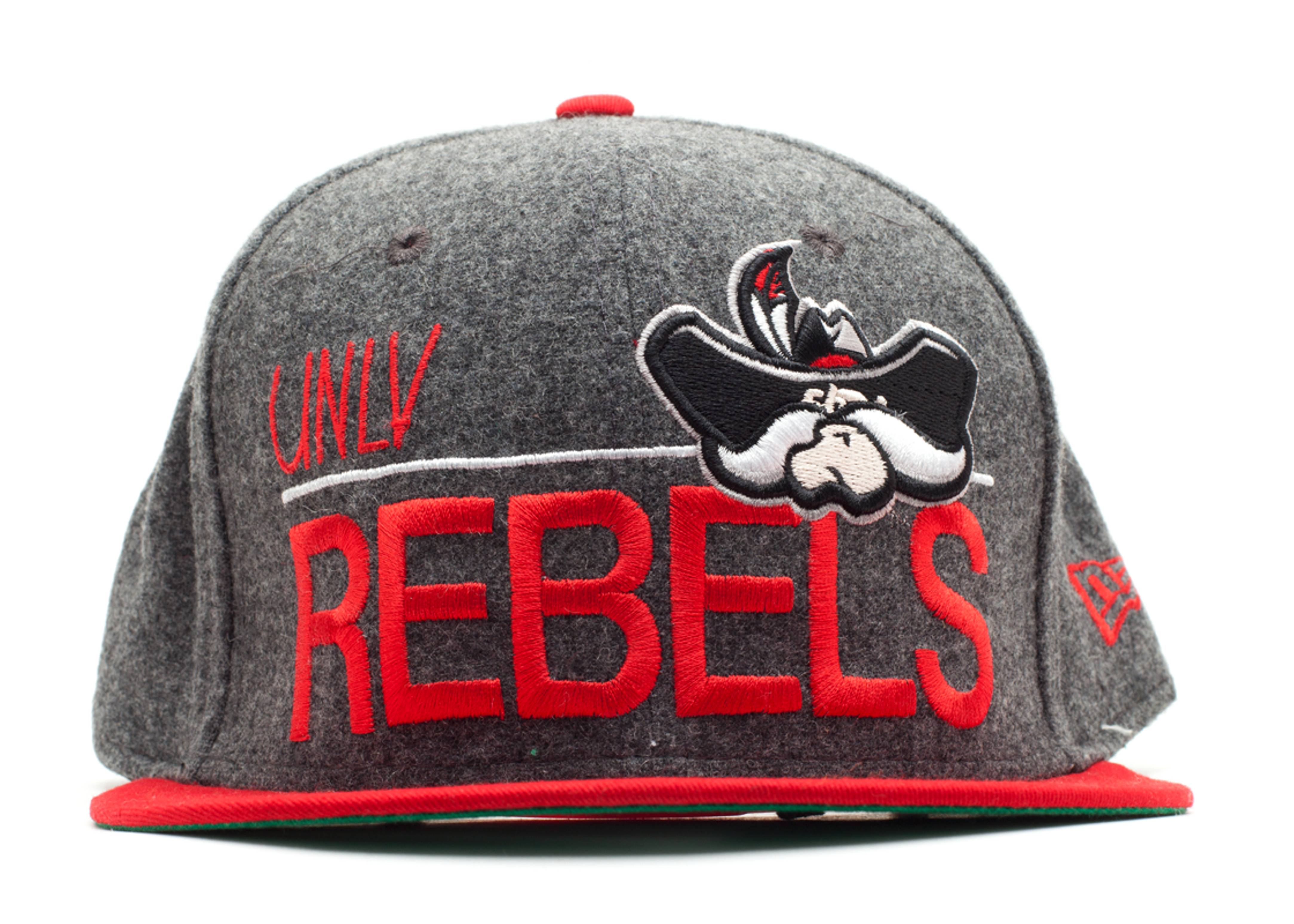 unlv rebels snap-back gray/red
