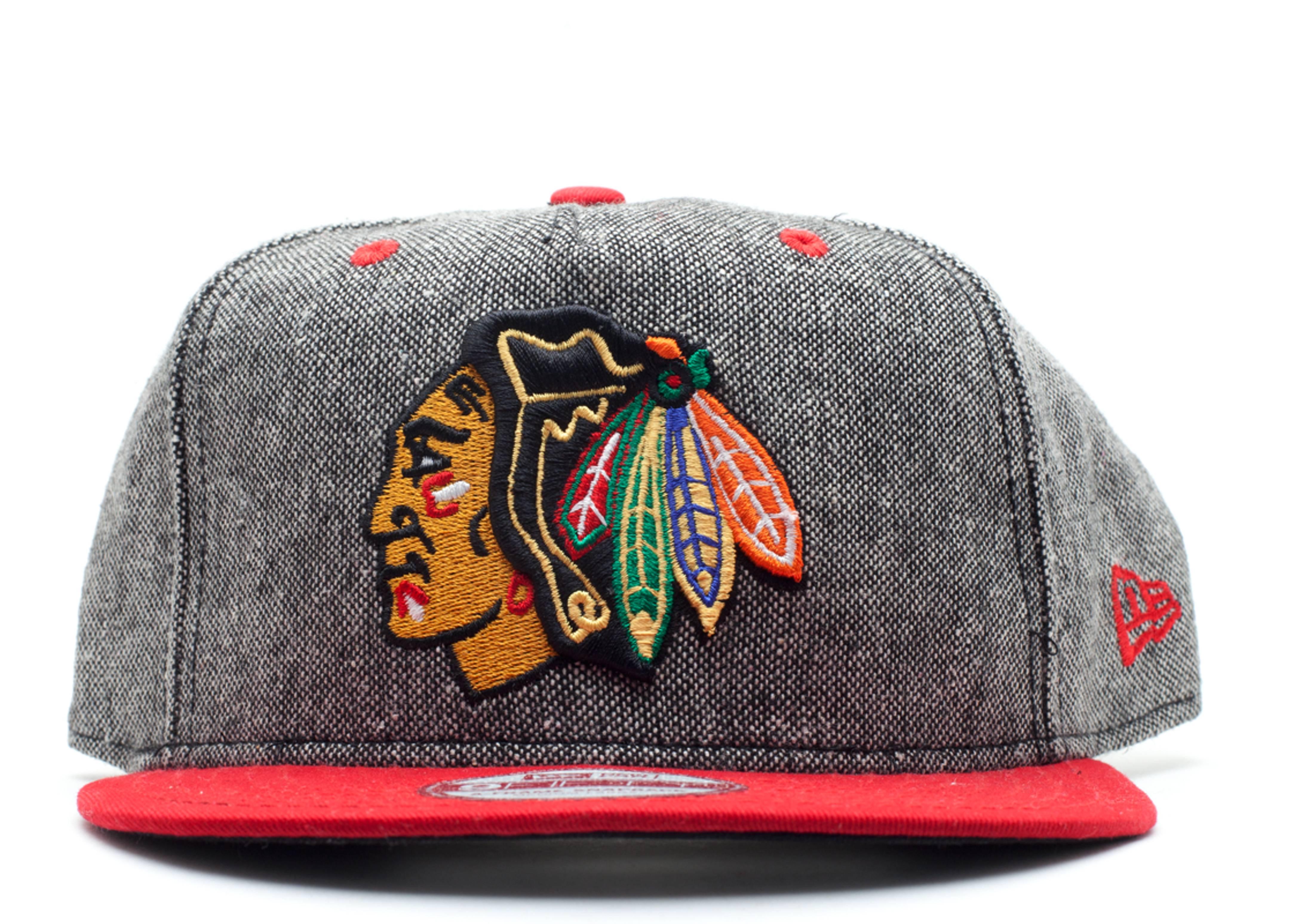 "chicago blackhawks snap-back ""tweed"""