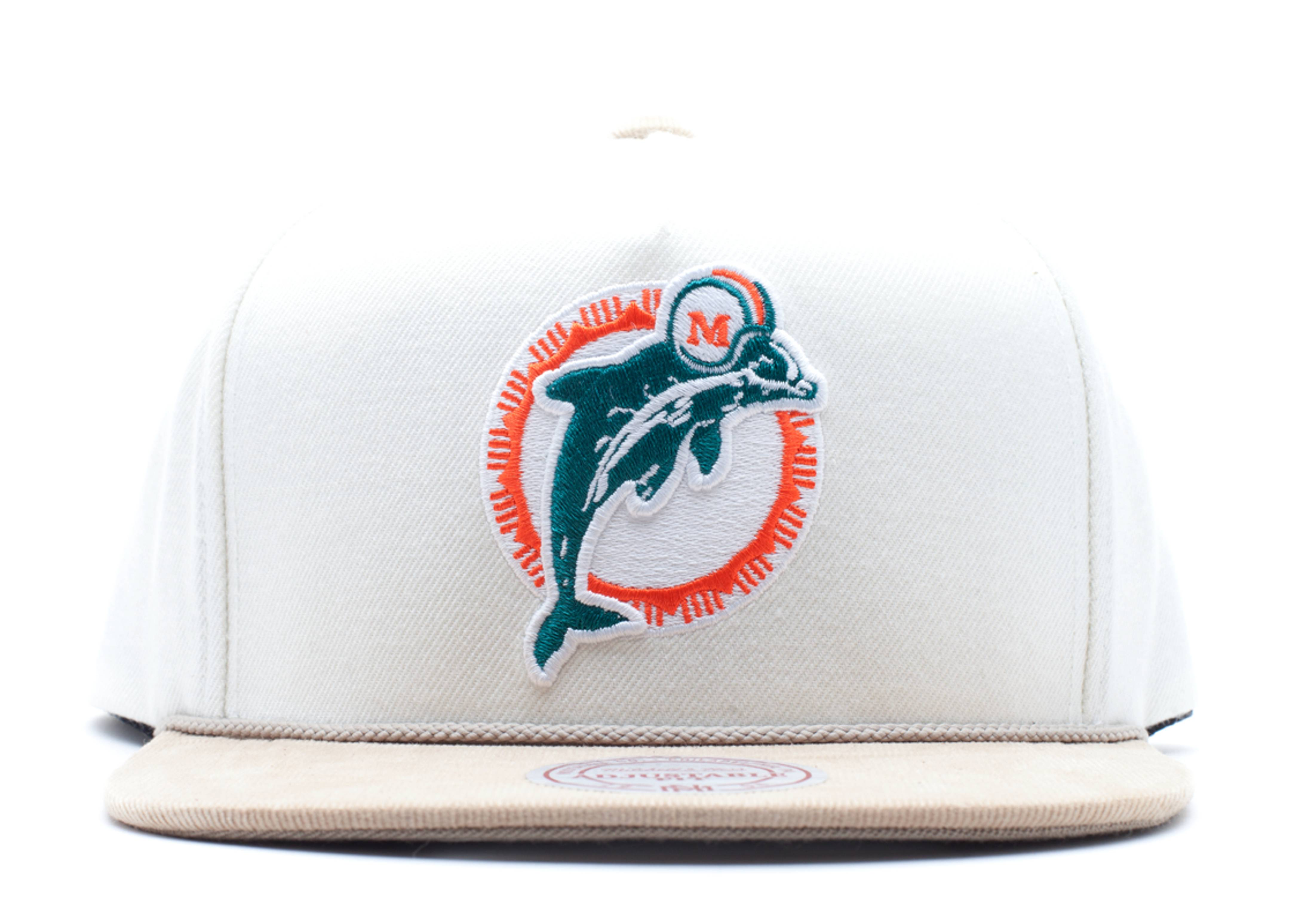 """miami dolphins snap-back """"strap-back"""""""