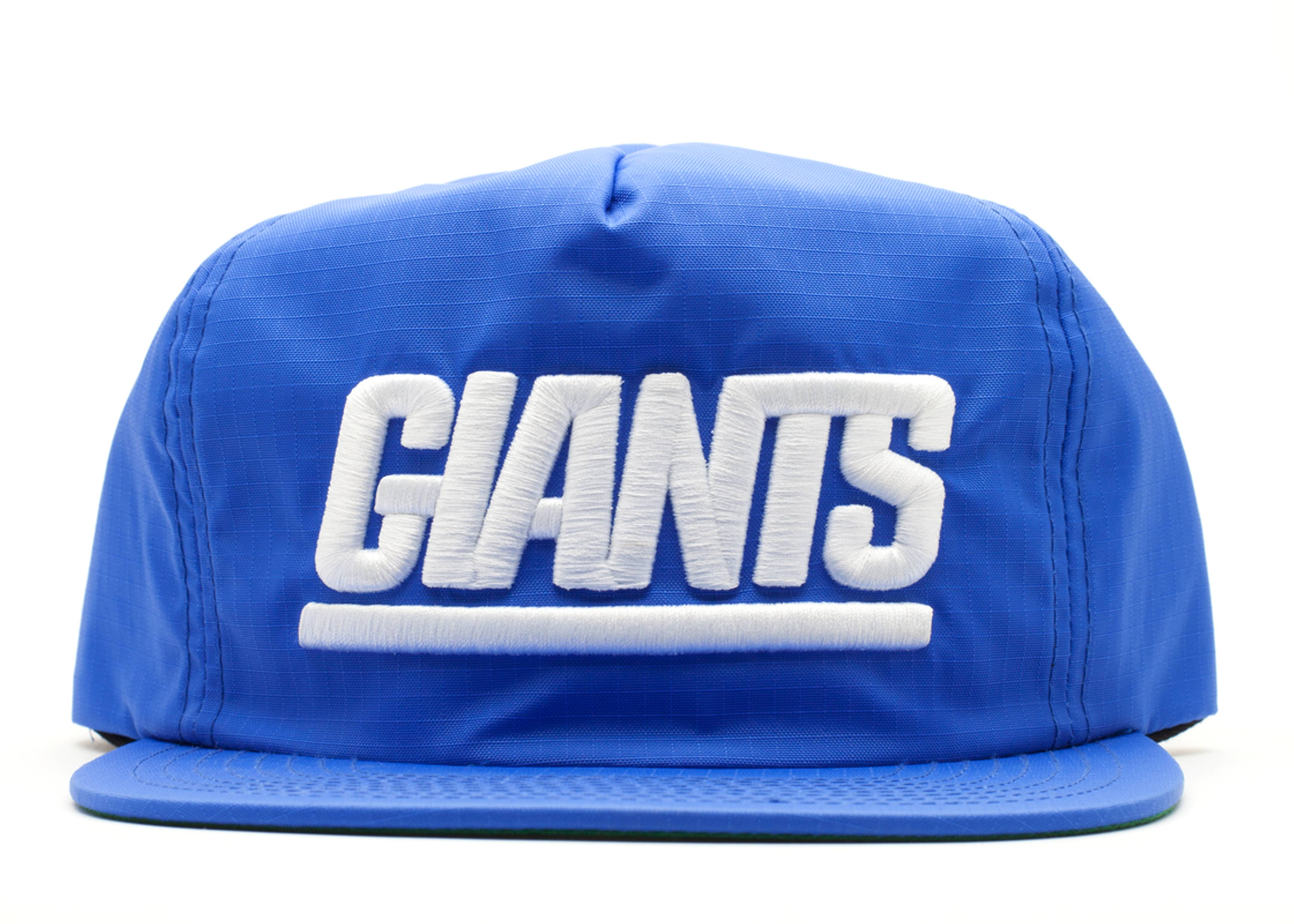 "new york giants snap-back ""zip-back"""
