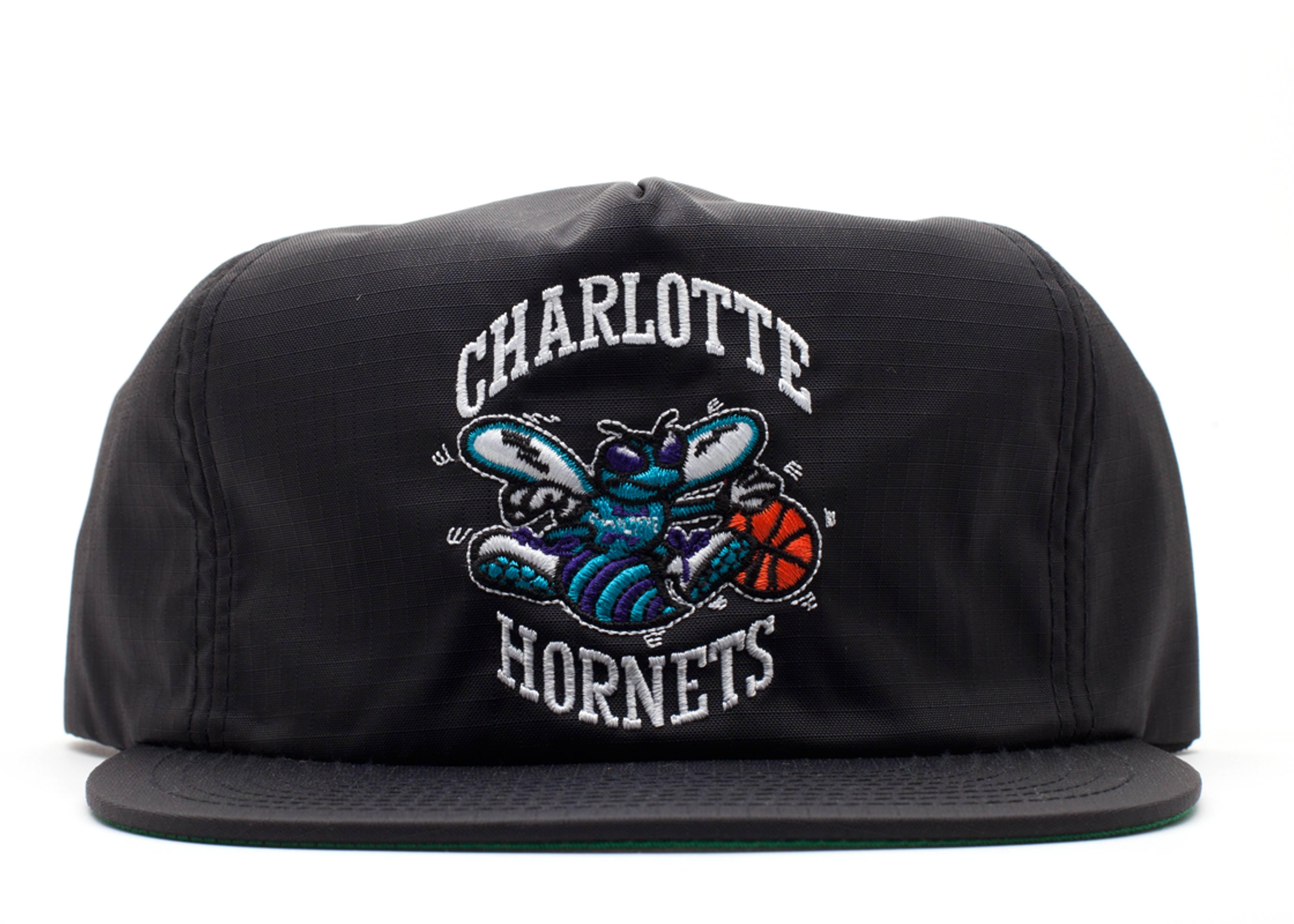 "charlotte hornets snap-back ""zip-back"""