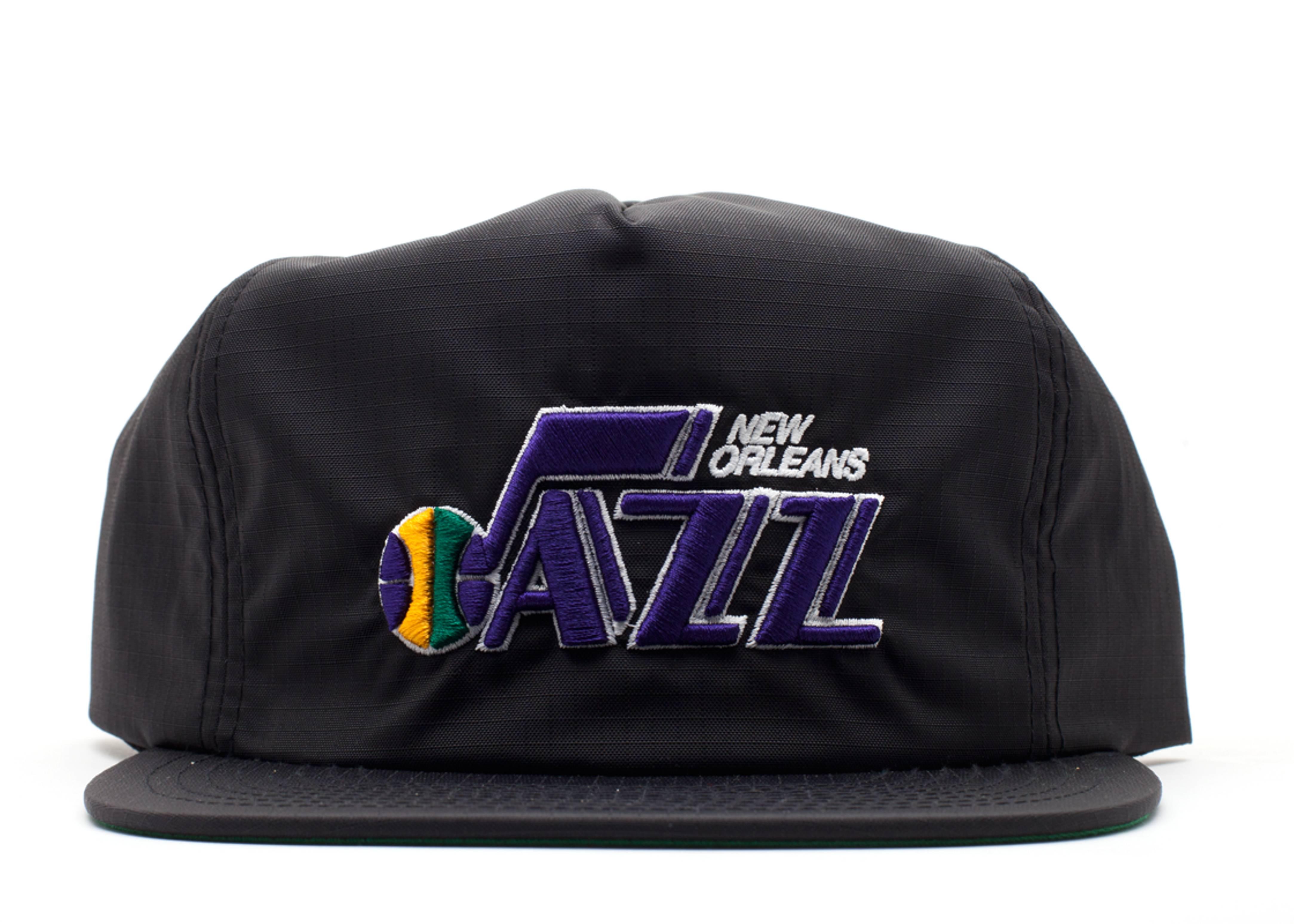 "new orleans jazz snap-back ""zip-back"""
