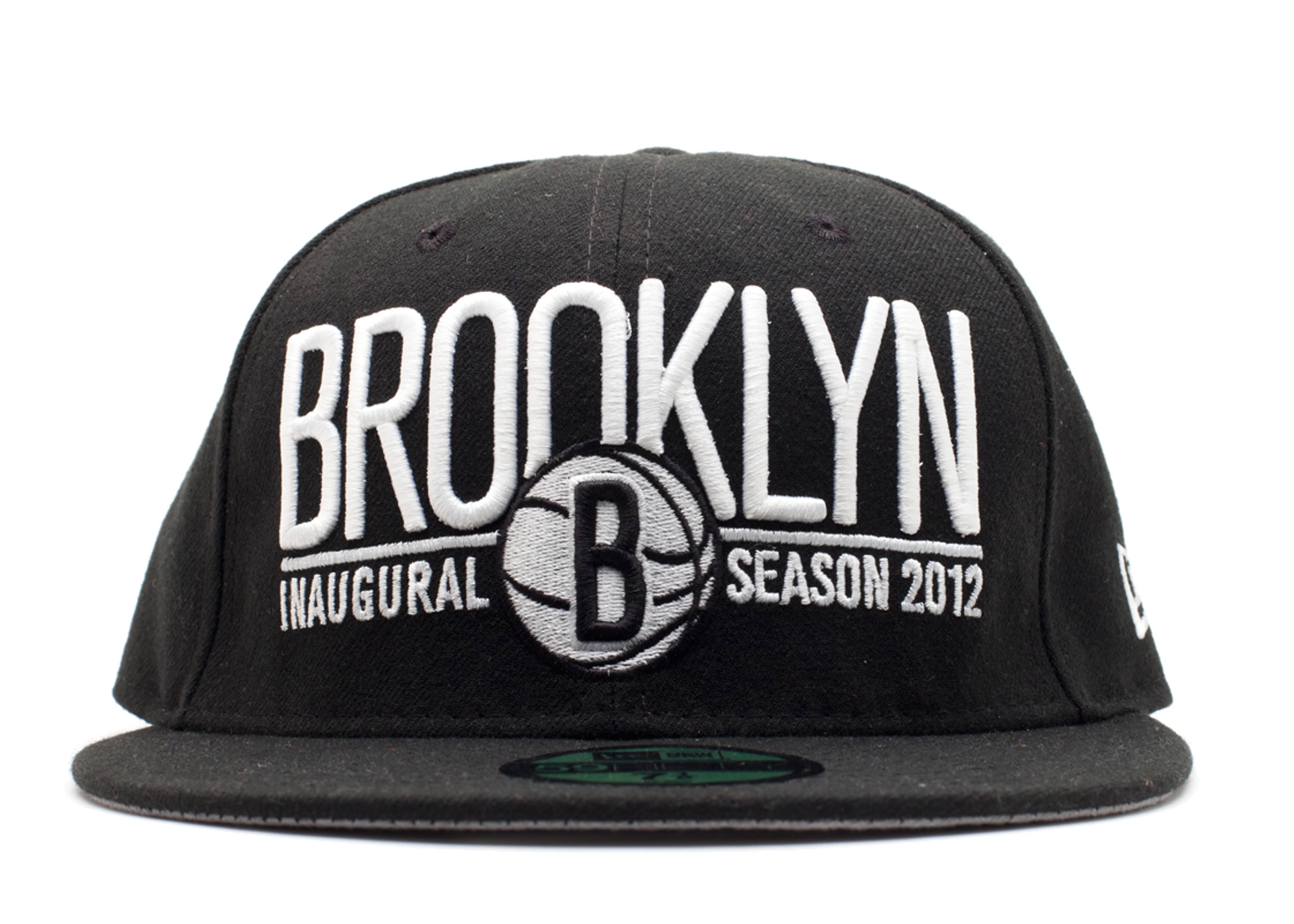 """brooklyn nets fitted """"inaugural season 2012"""""""