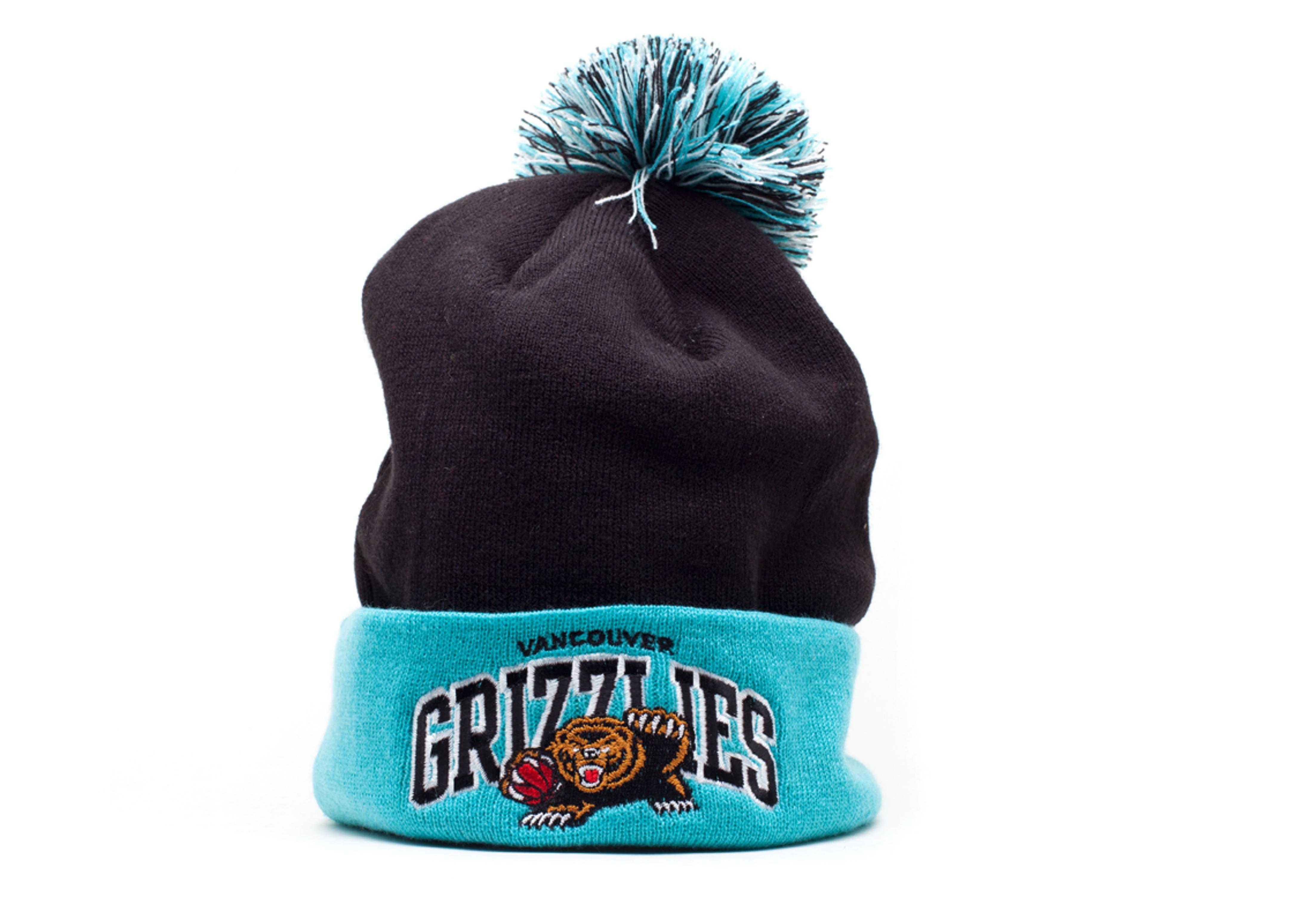 vancouver grizzlies cuffed knit pom beanie