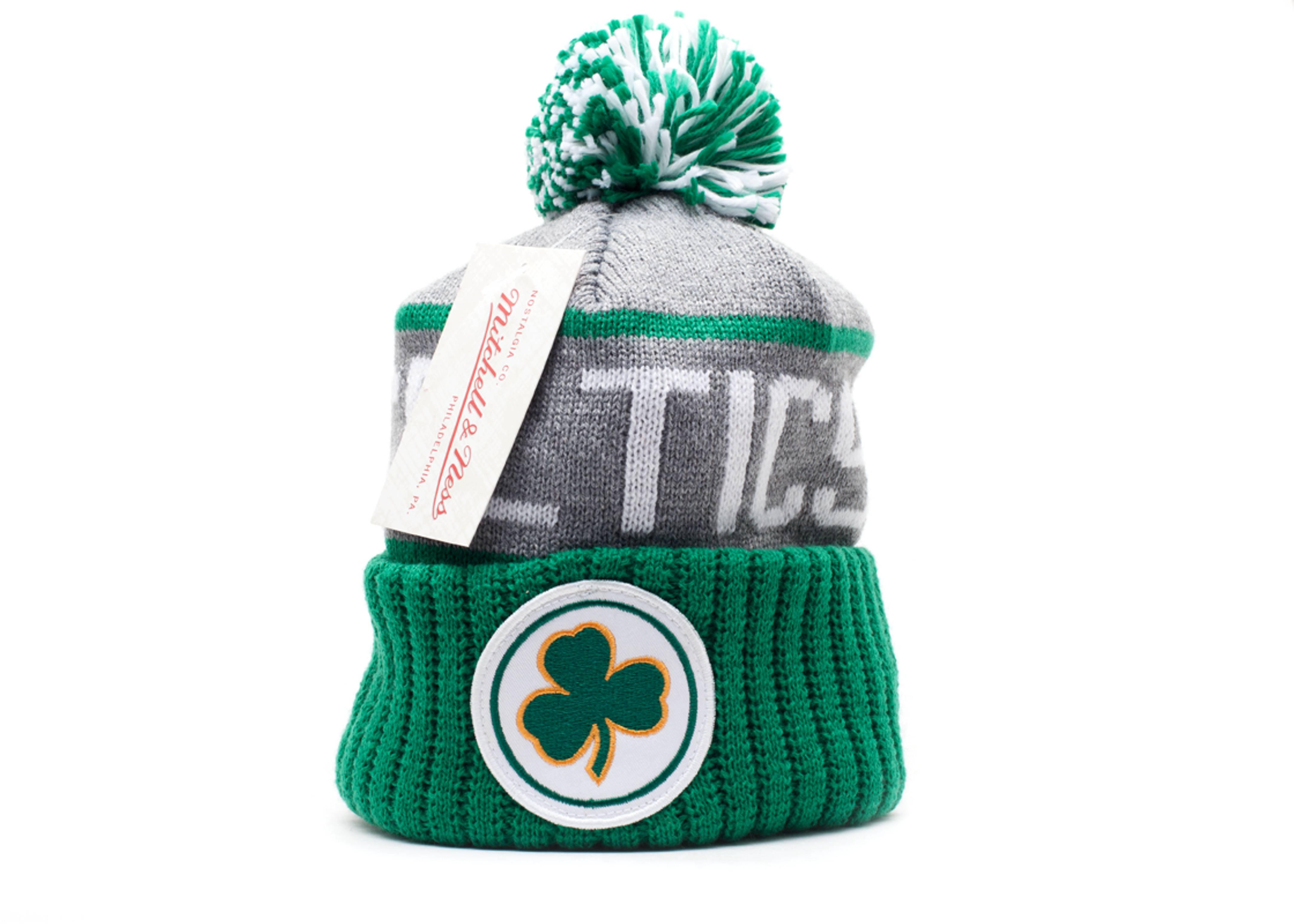 850aa46d14b Boston Celtics Cuffed Pom Knit Beanie - Mitchell   Ness - kj46zgte5celti -  grey green