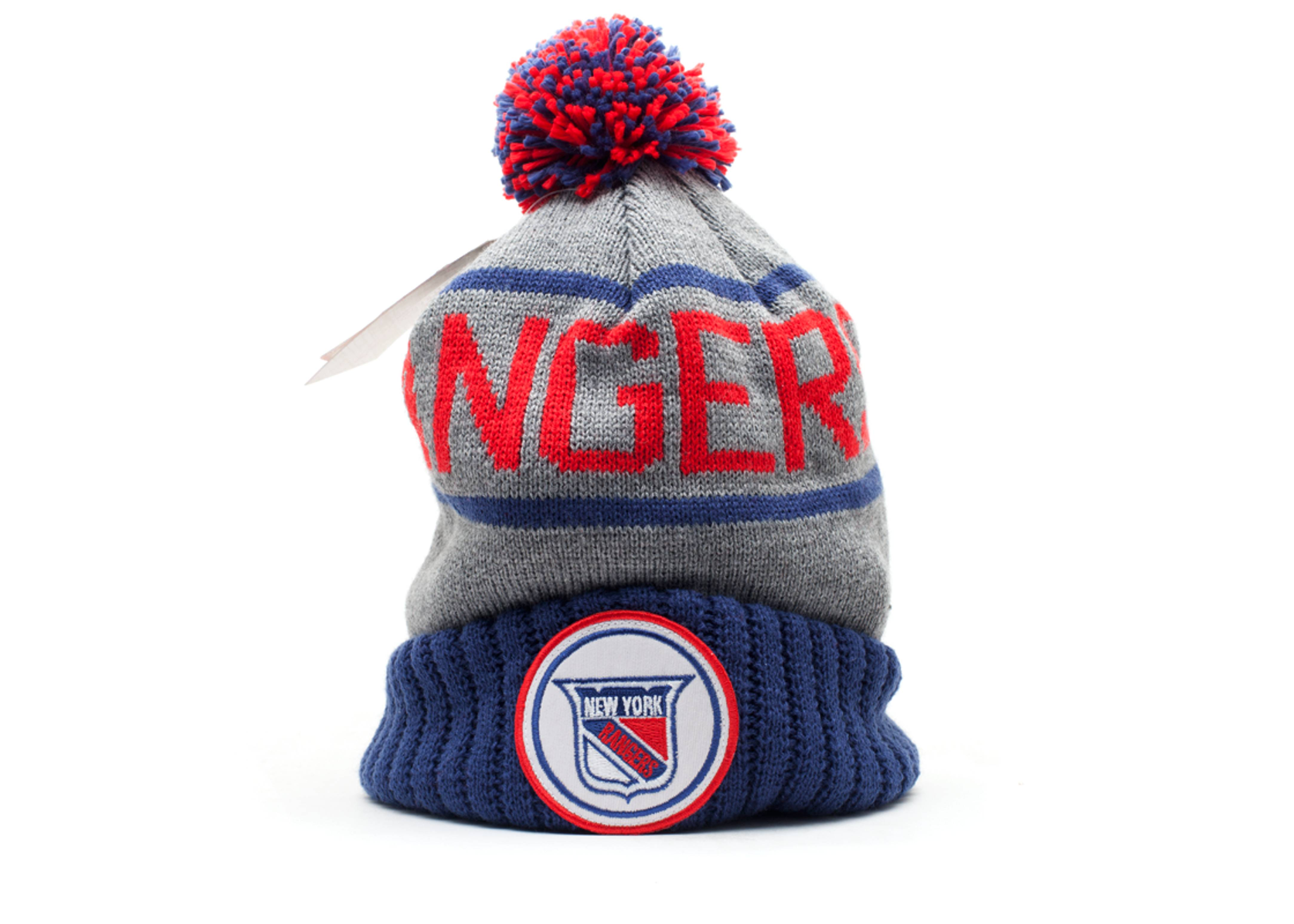 new york rangers cuffed pom beanie