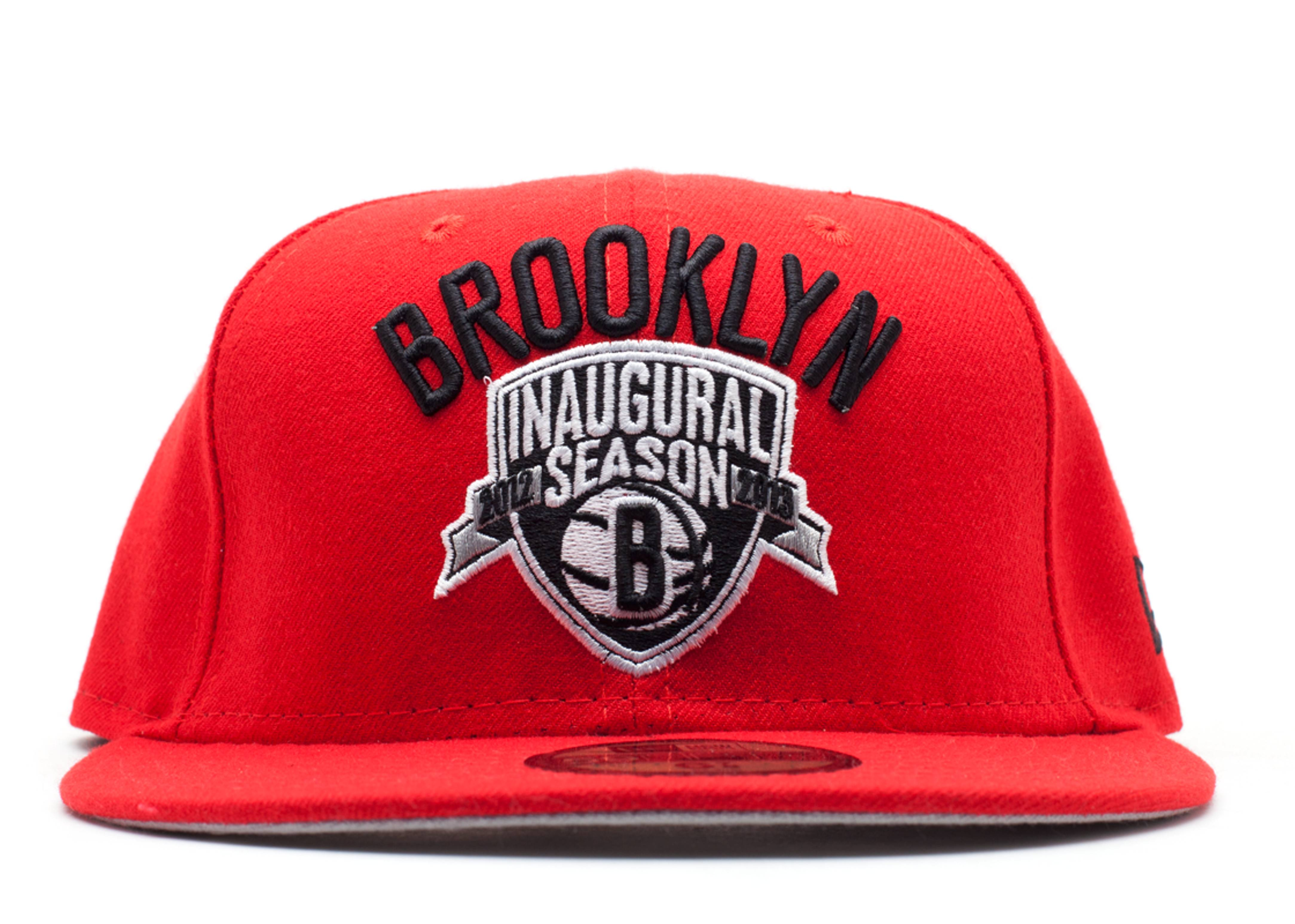 "brooklyn nets fitted ""inaugural season 2012-2012"""