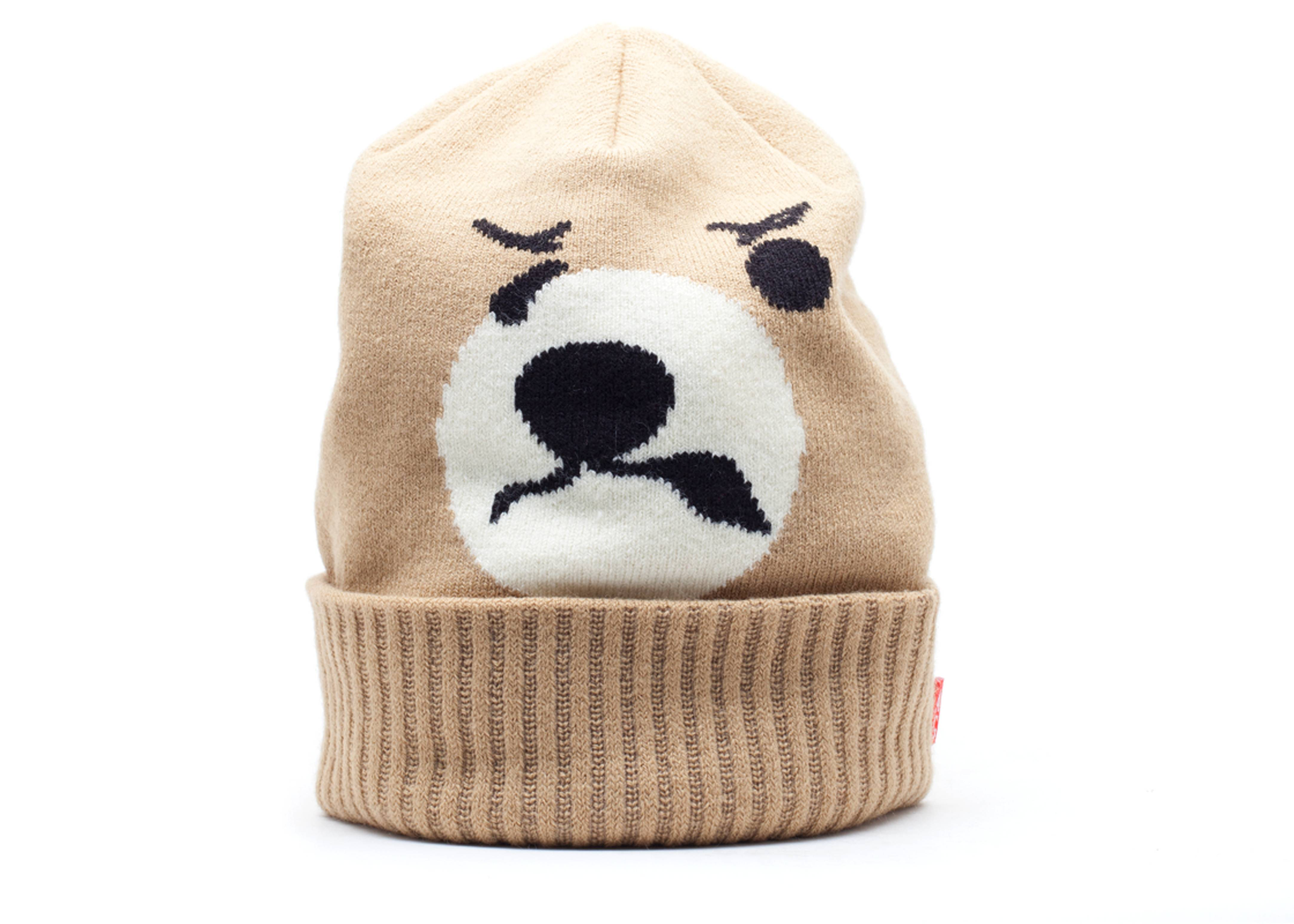 """angry lo bear beanie """"lo bear"""""""