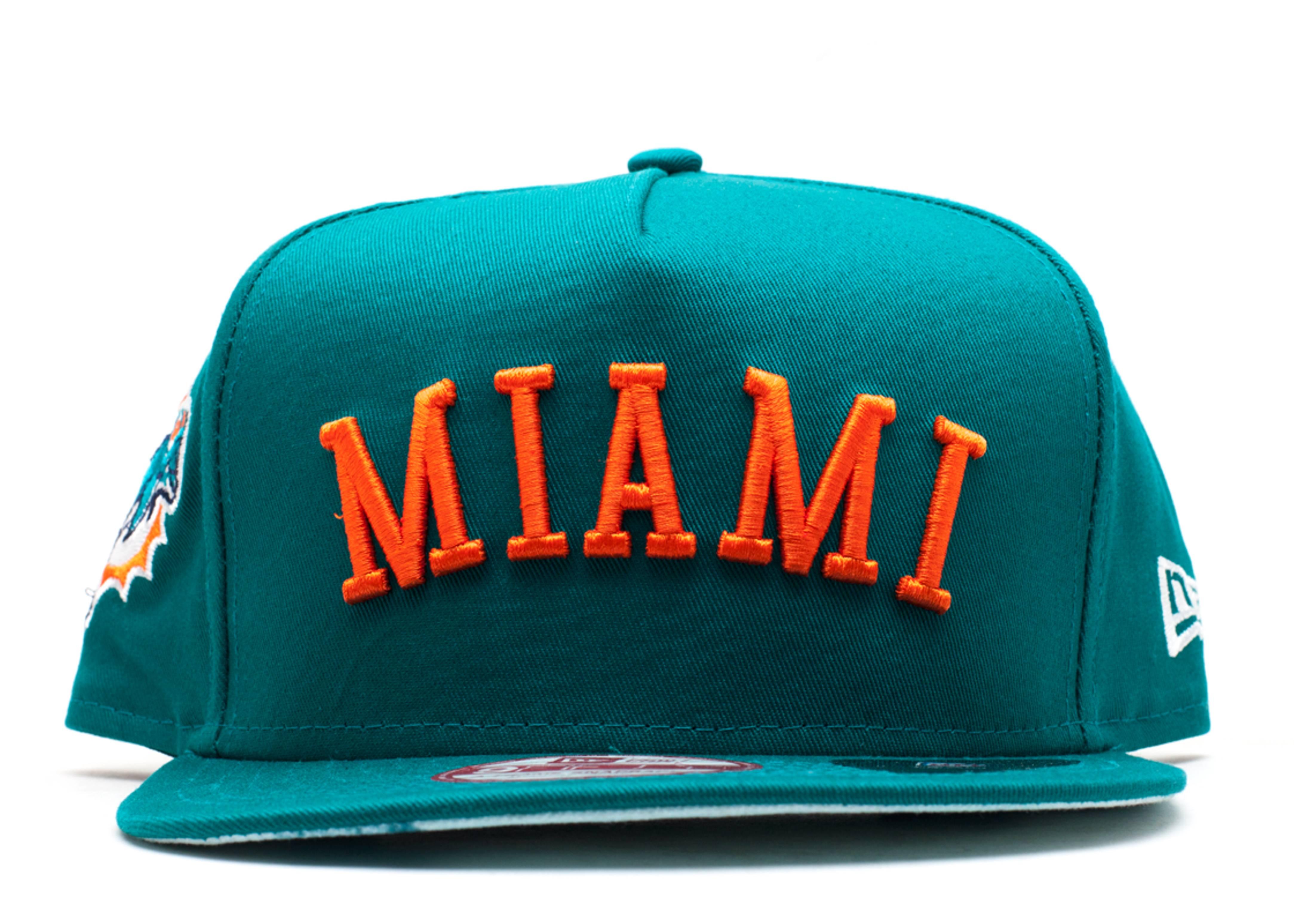 "miami dolphins snap-back ""city skyline underbrim"""