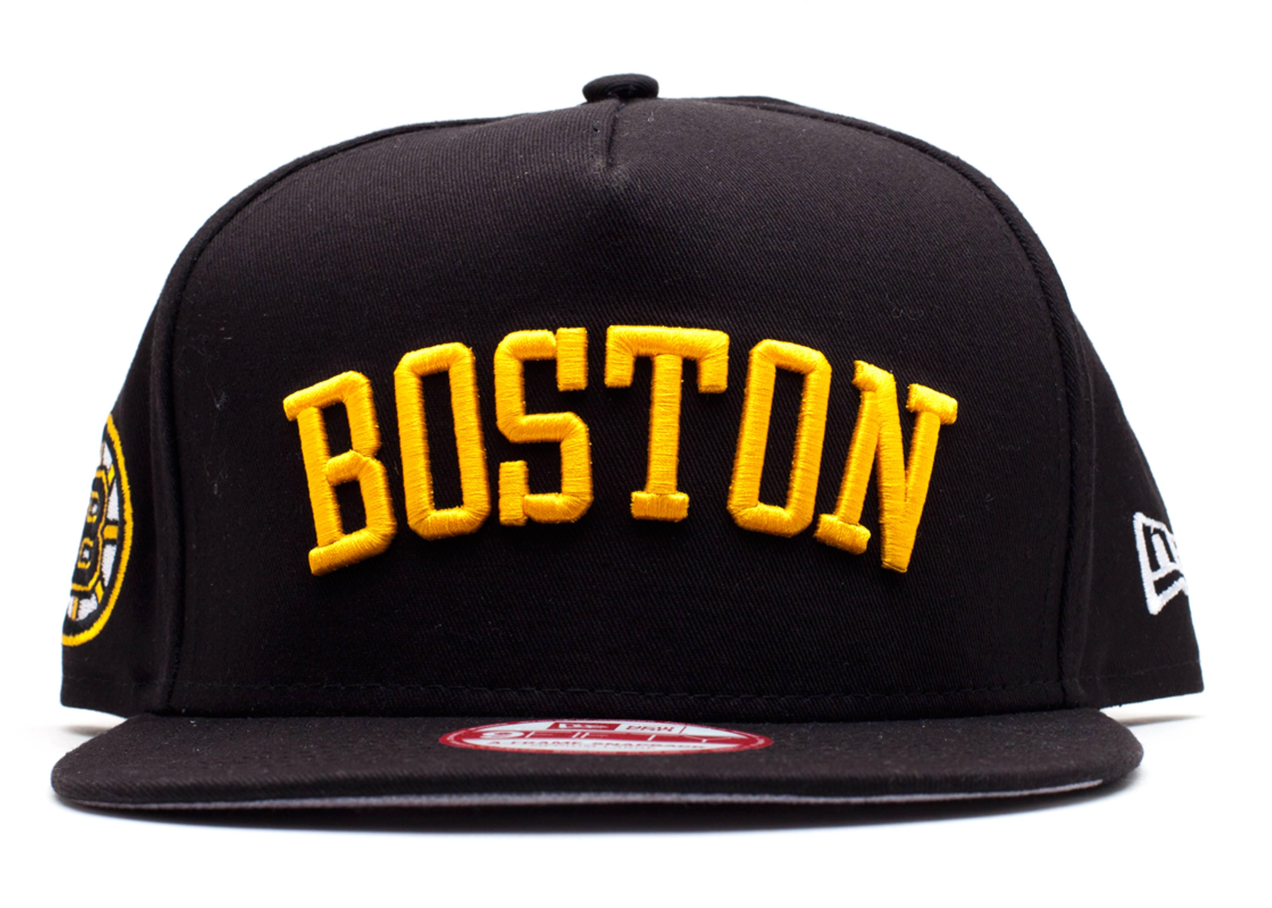 "boston bruins snap-back ""city skyline underbrim"""