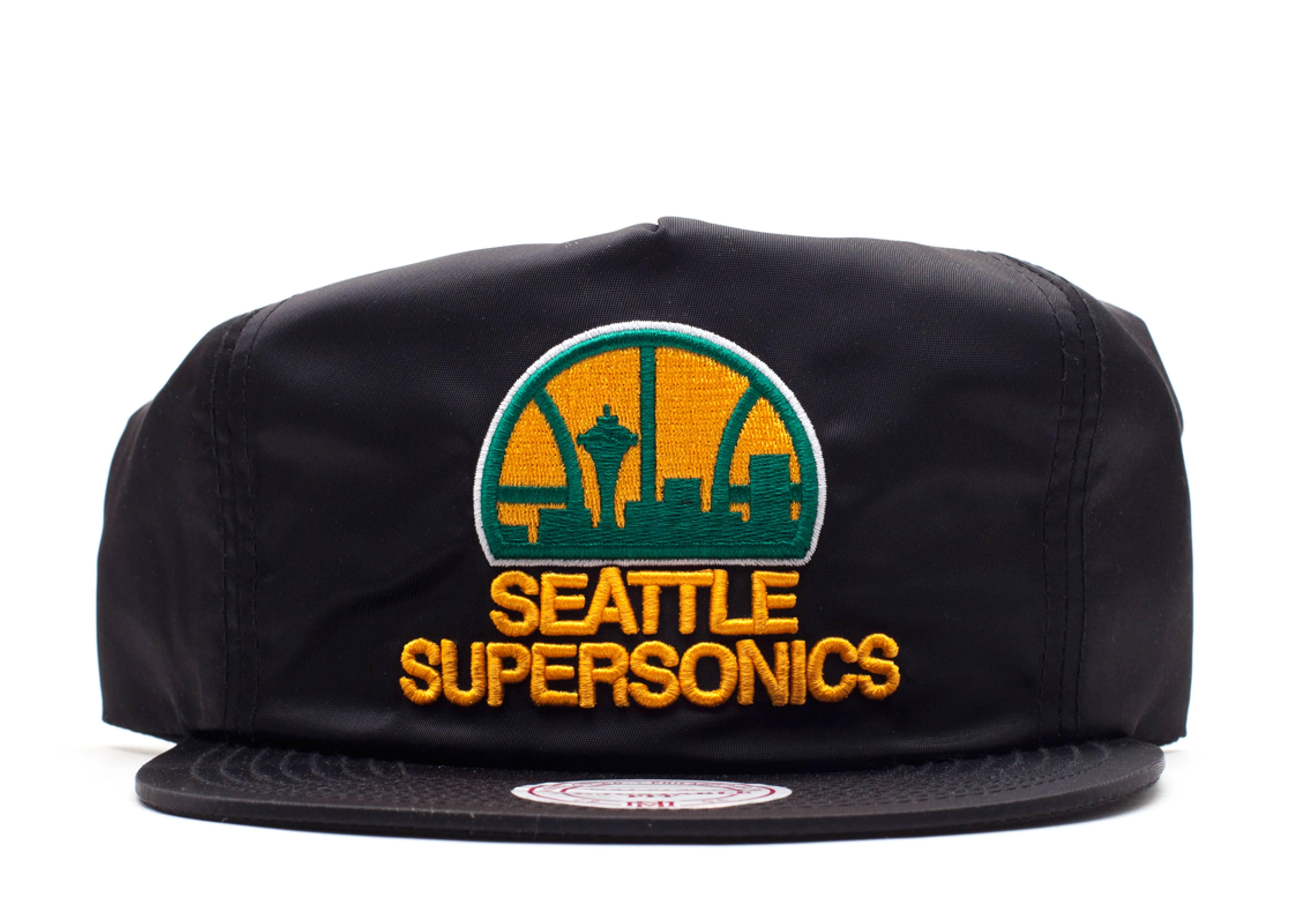 "seattle supersonics zip-back ""nylon"""