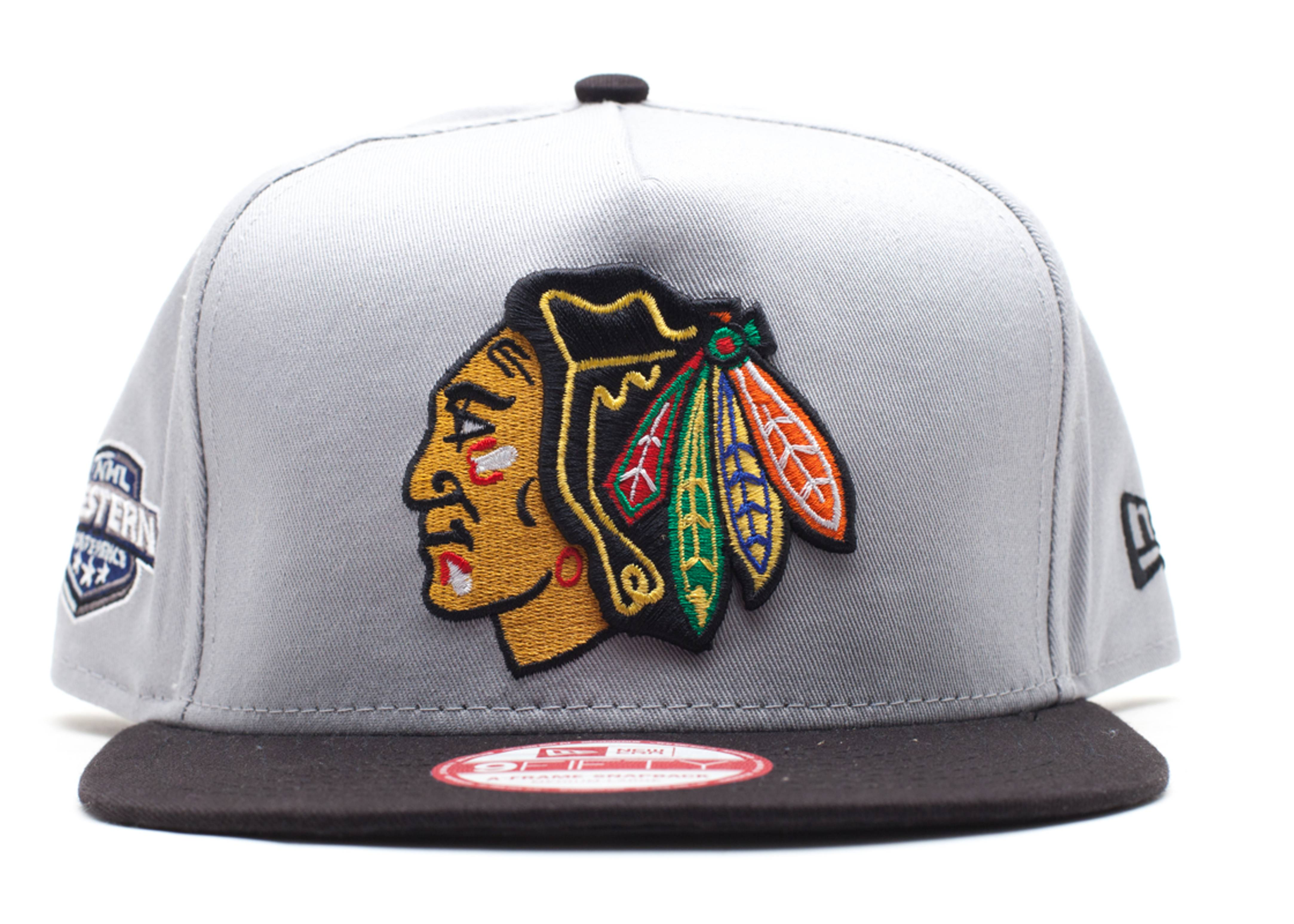 "chicago blackhawks snap-back ""nhl western conference side-patch"""