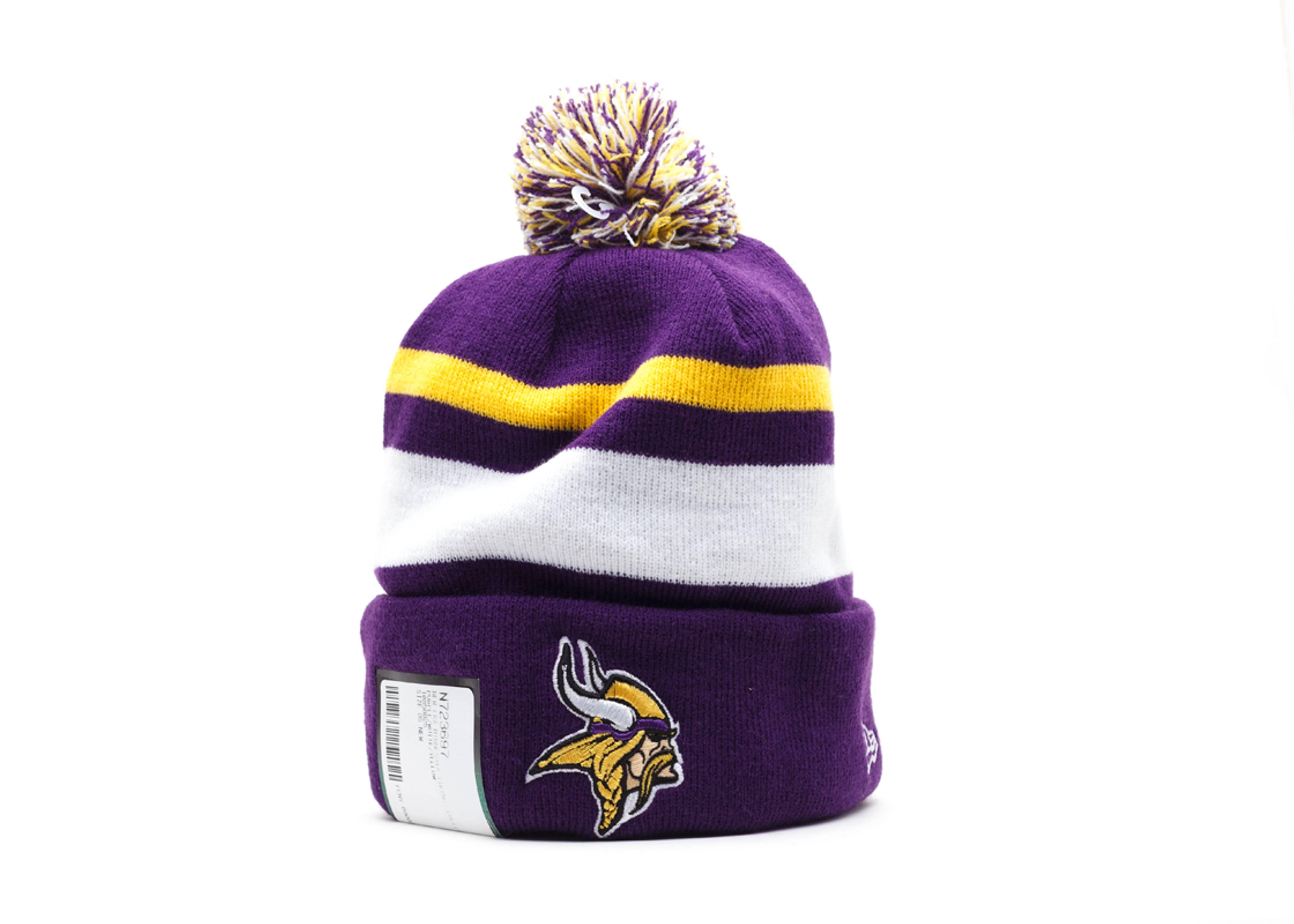 1ed40170b Minnesota Vikings Cuffed Pom Beanie - New Era - 10858825 - purple ...