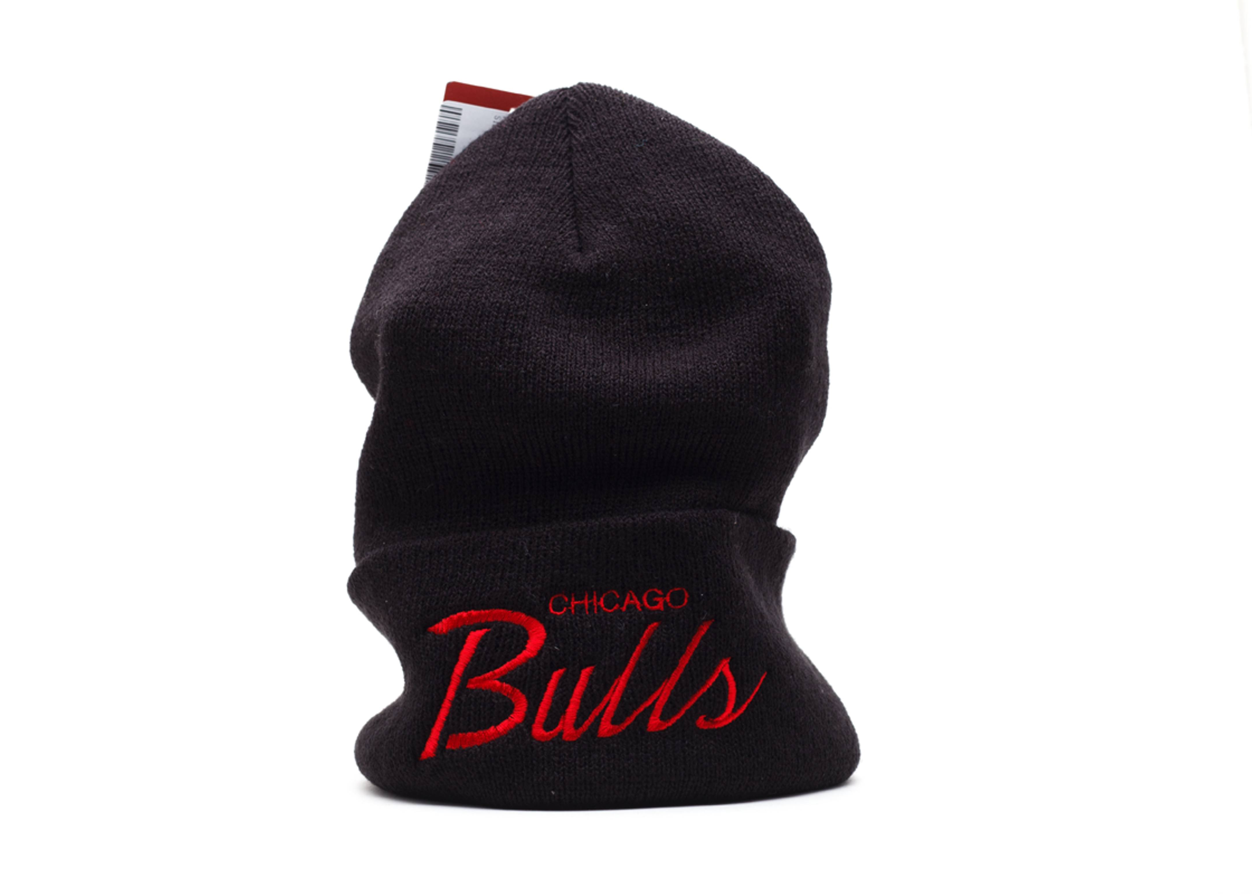 chicago bulls cuffed knit beanie