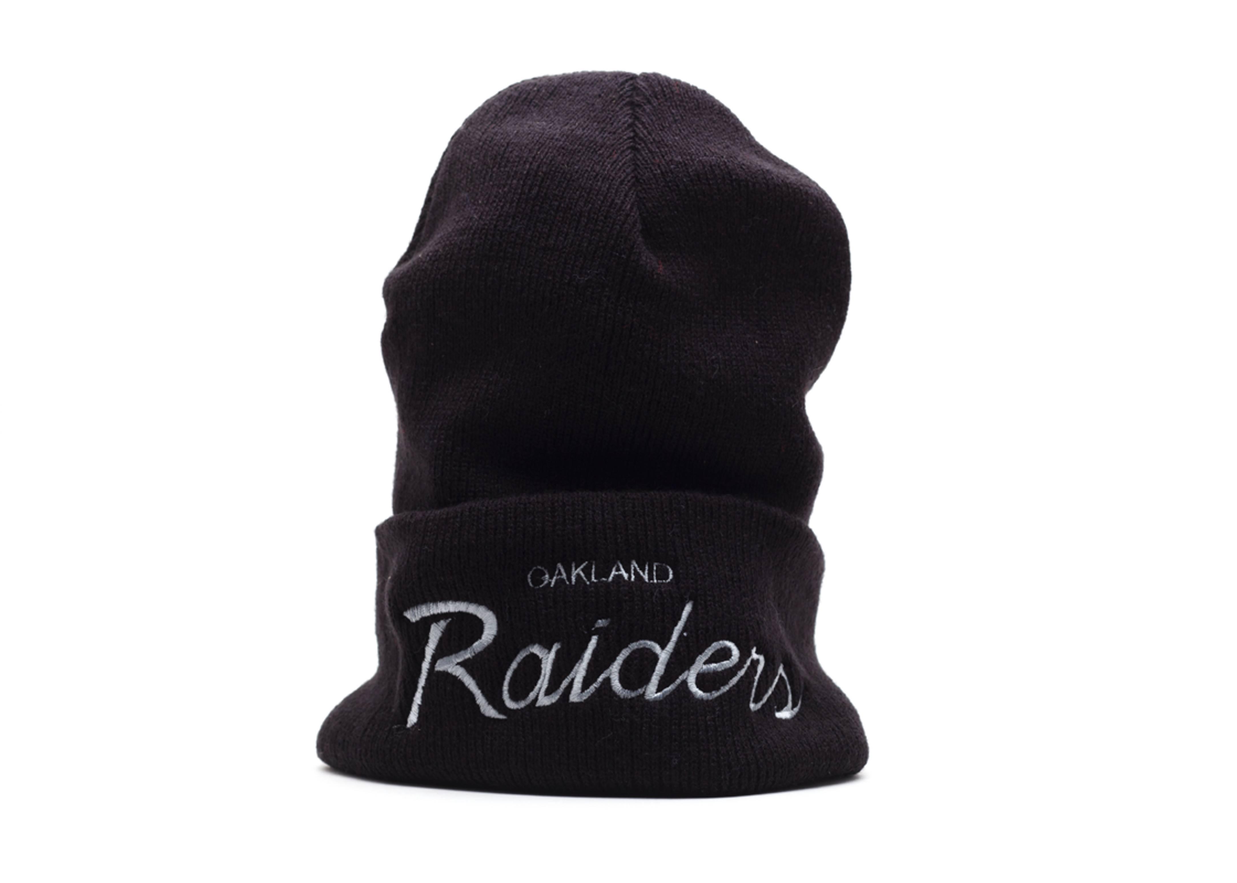oakland raiders cuffed knit beanie