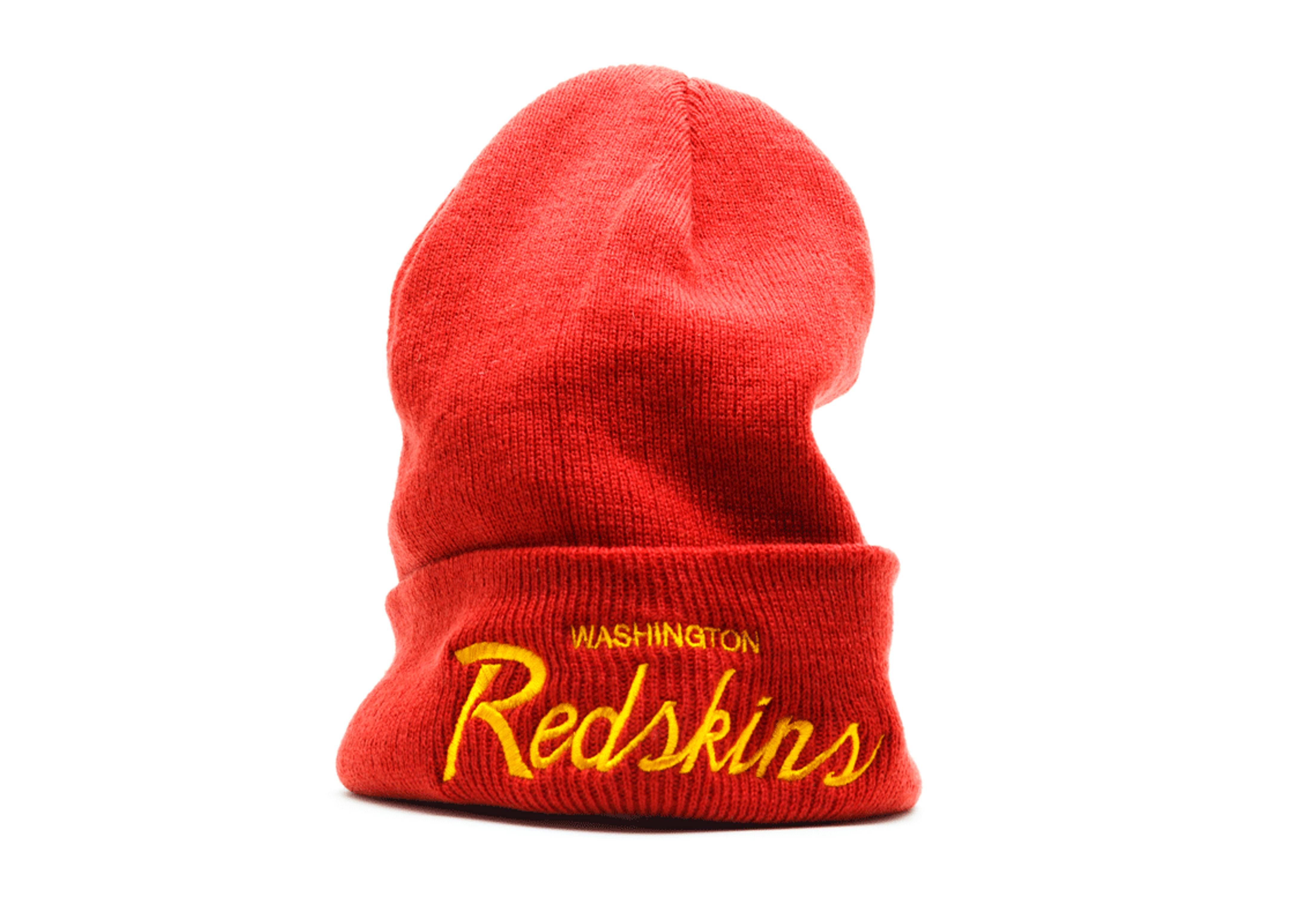 washington redskins cuffed knit beanie