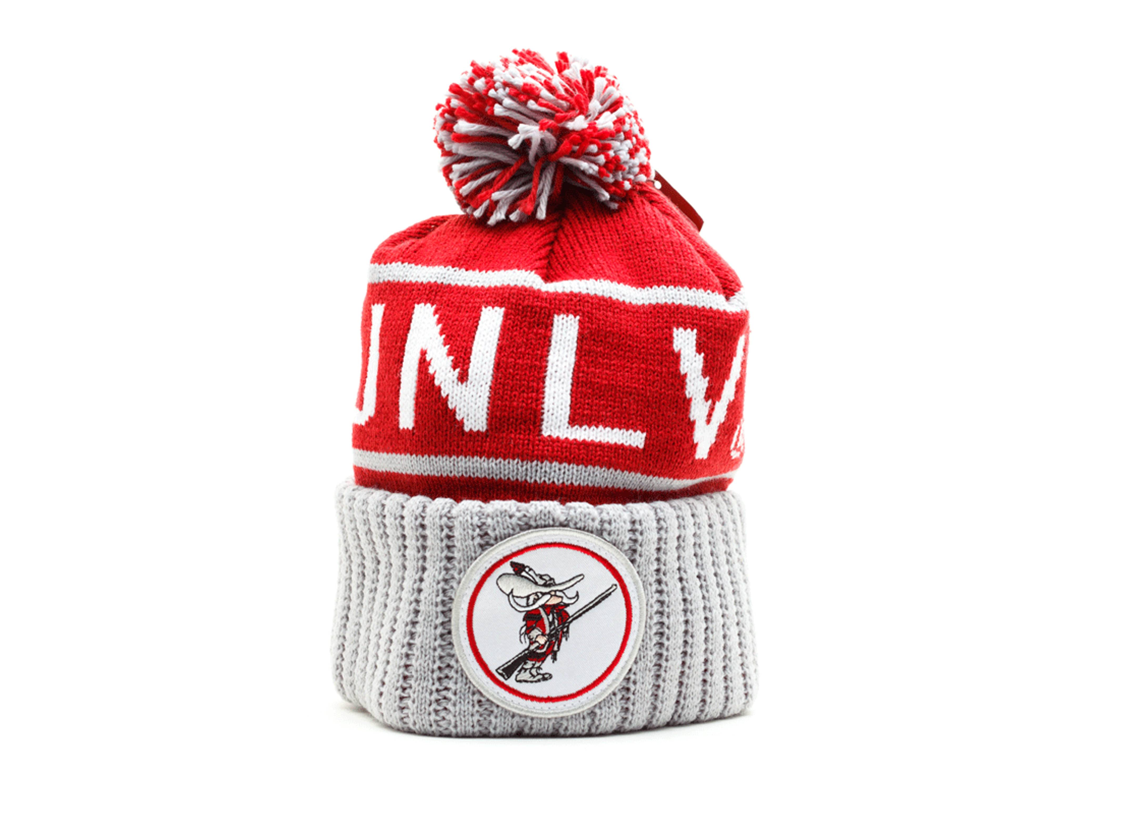 unlv rebels cuffed pom beanie