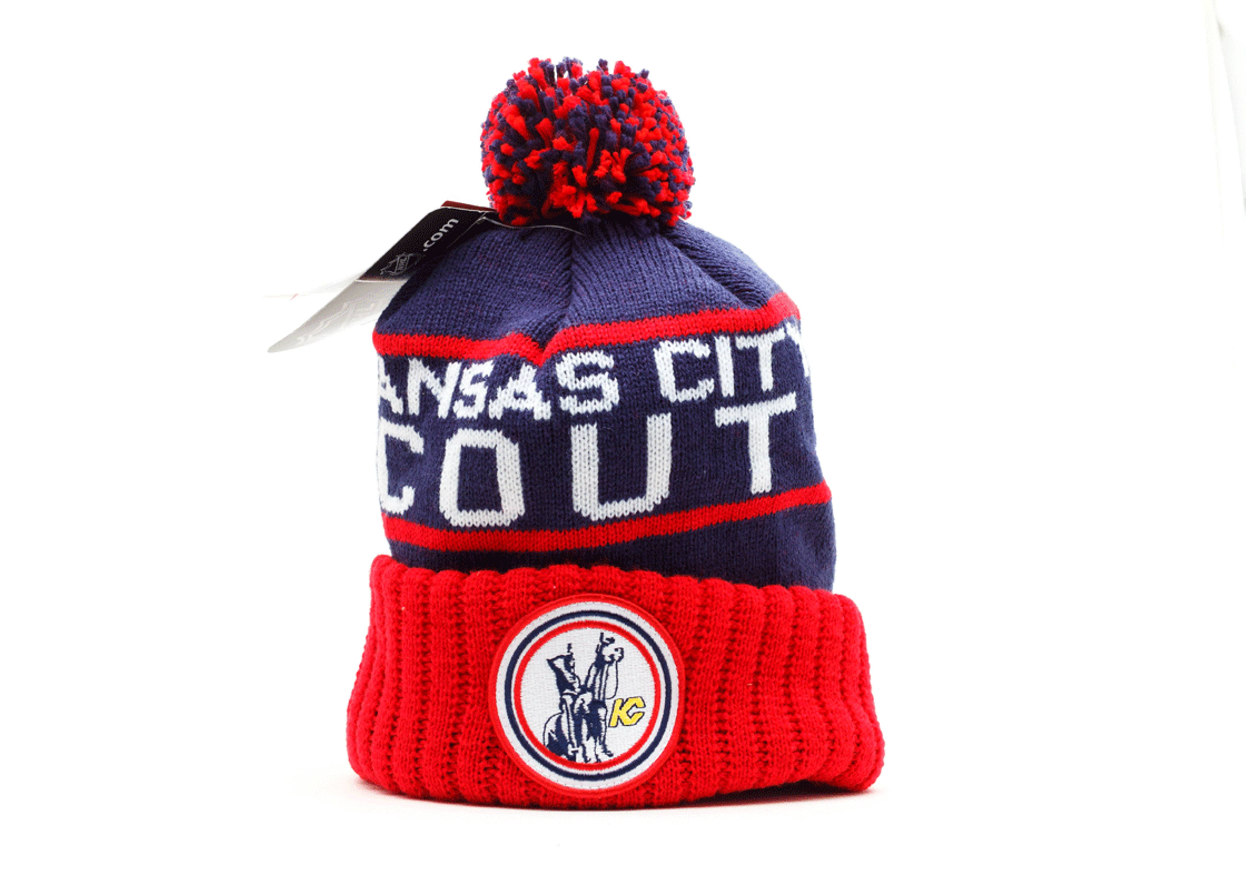 kansas city scouts cuffed pom beanie