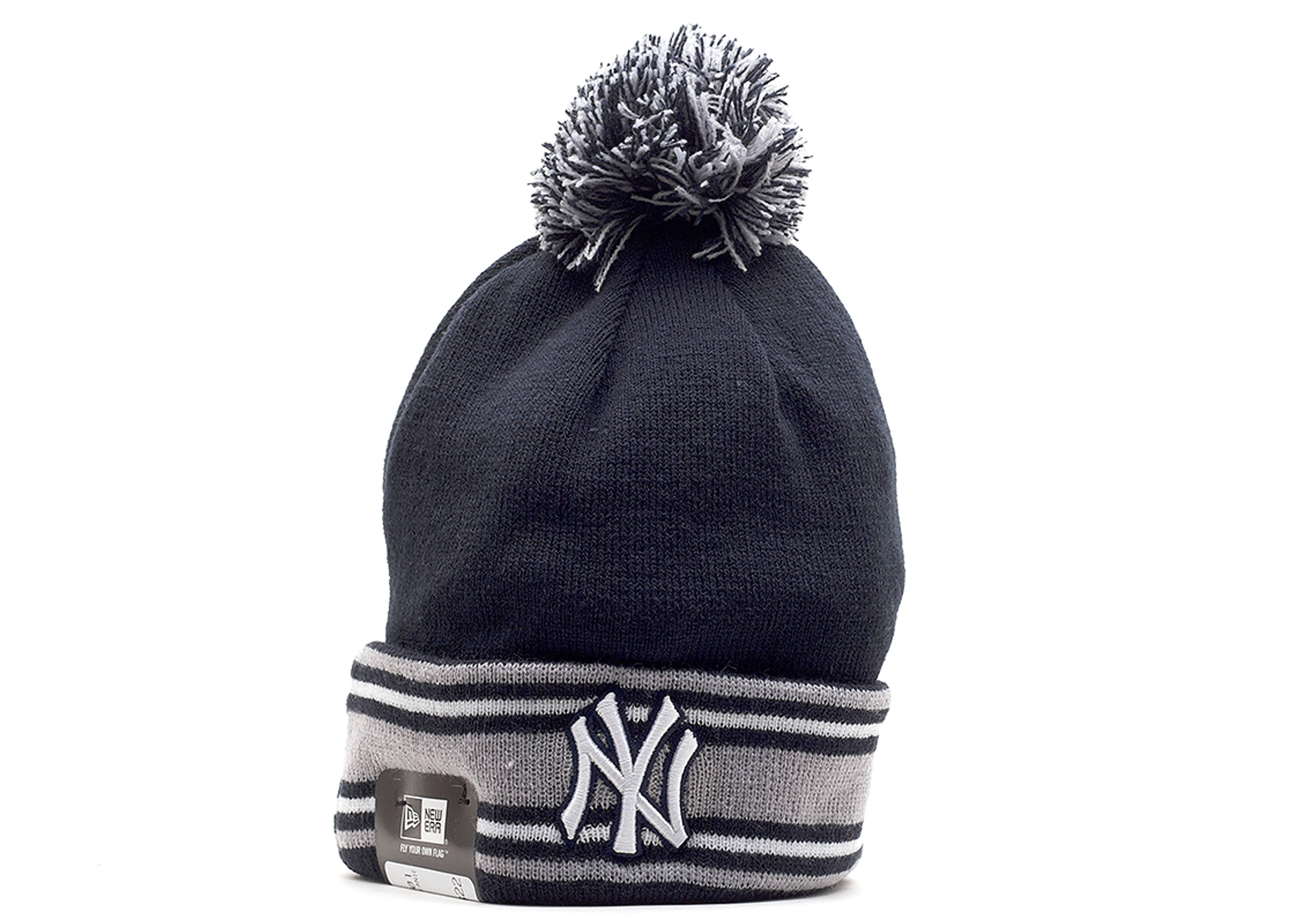 4a03fd0b2f0 New York Yankees Cuffed Pom Knit Beanie - New Era - 10963897 - navy ...