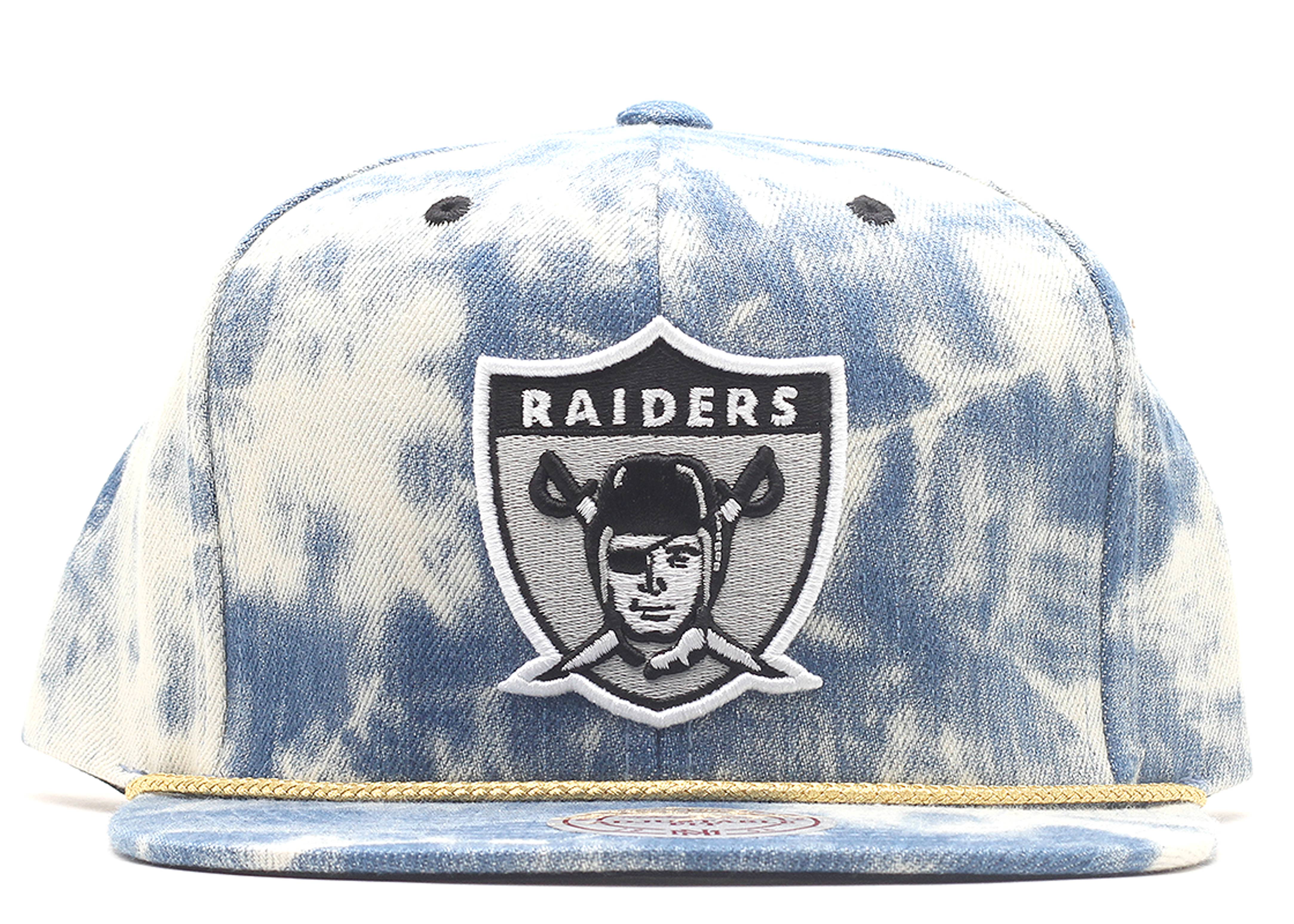 "oakland raiders snap-back ""acid wash"""