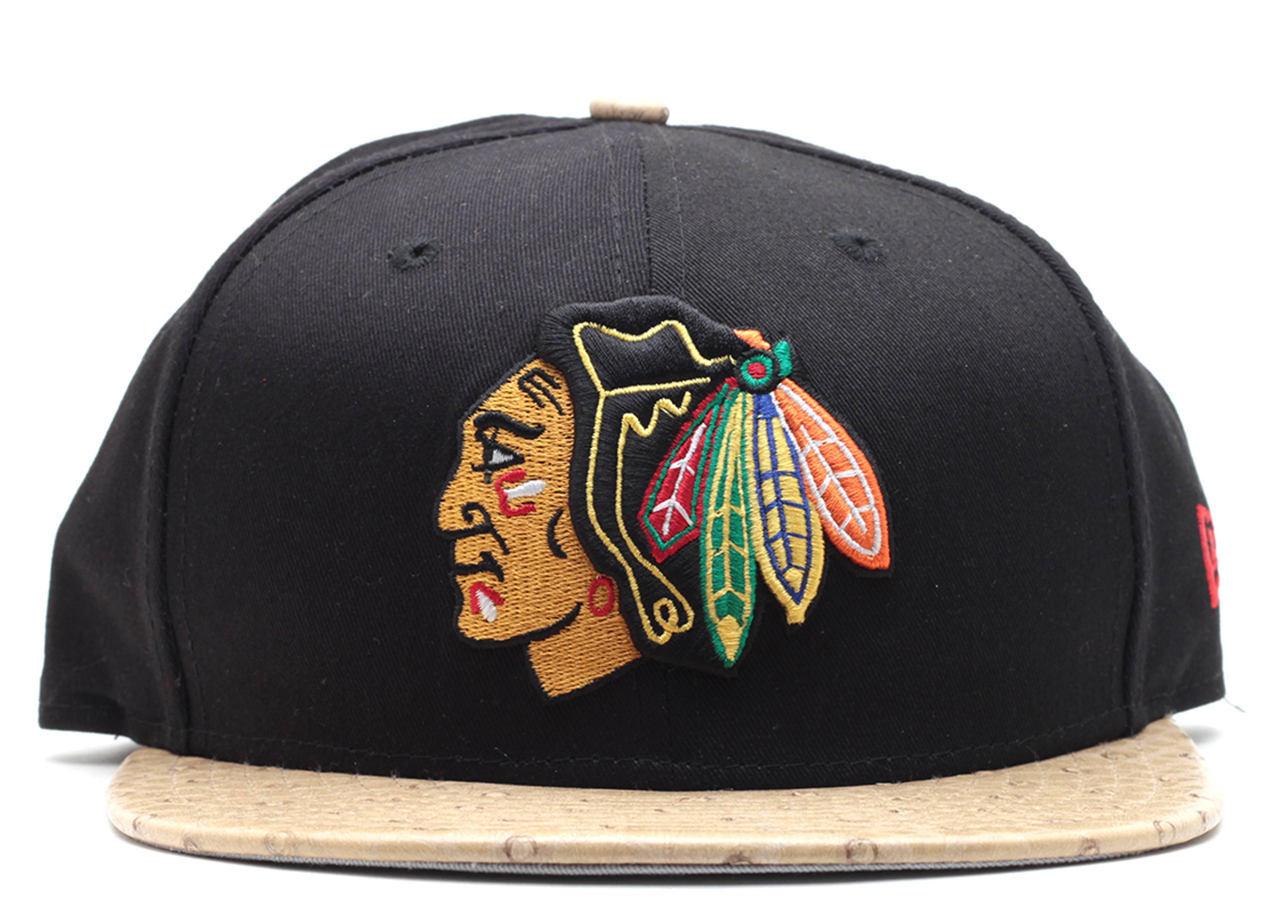 "chicago blackhawks strap-back ""ostrich"""