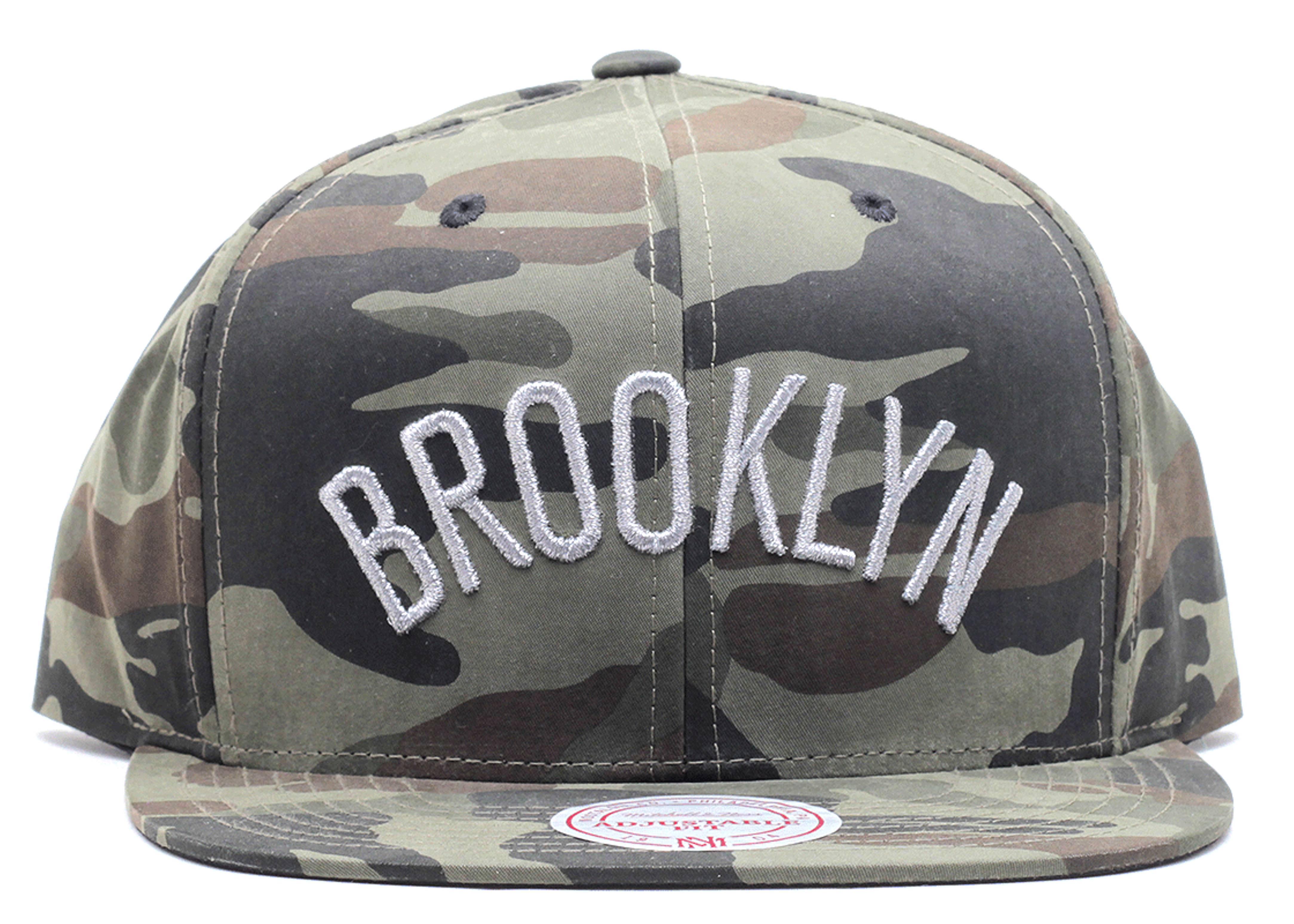 "brooklyn nets snap-back ""woodland camo"""