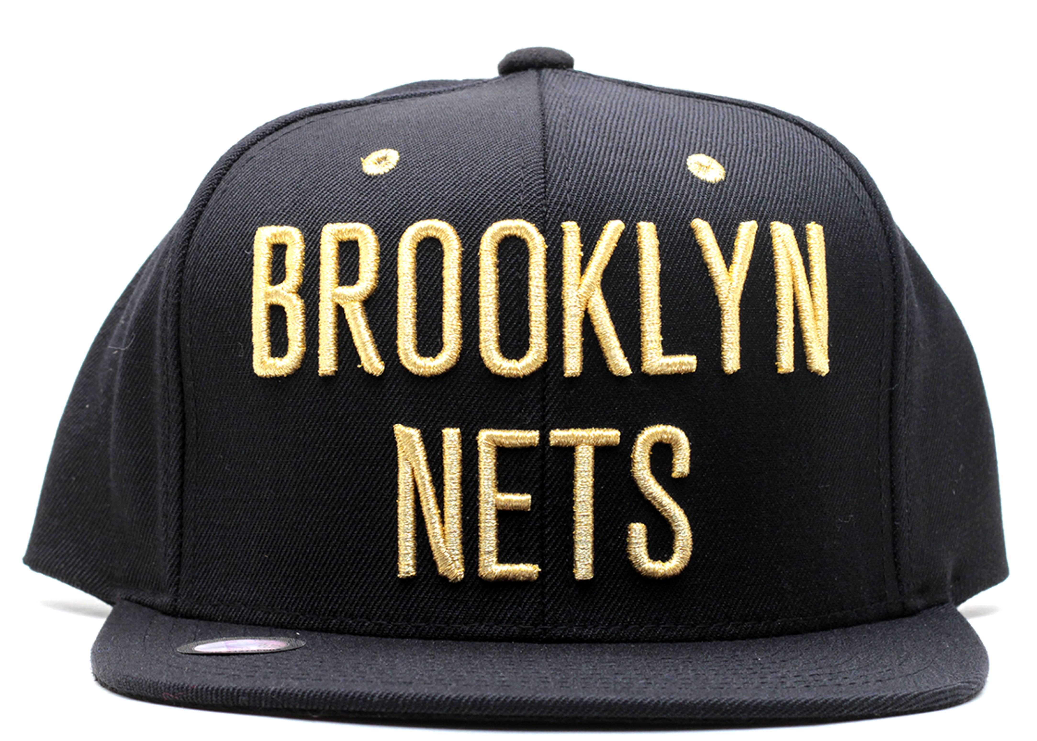 "brooklyn nets snap-back ""suede underbrim"""