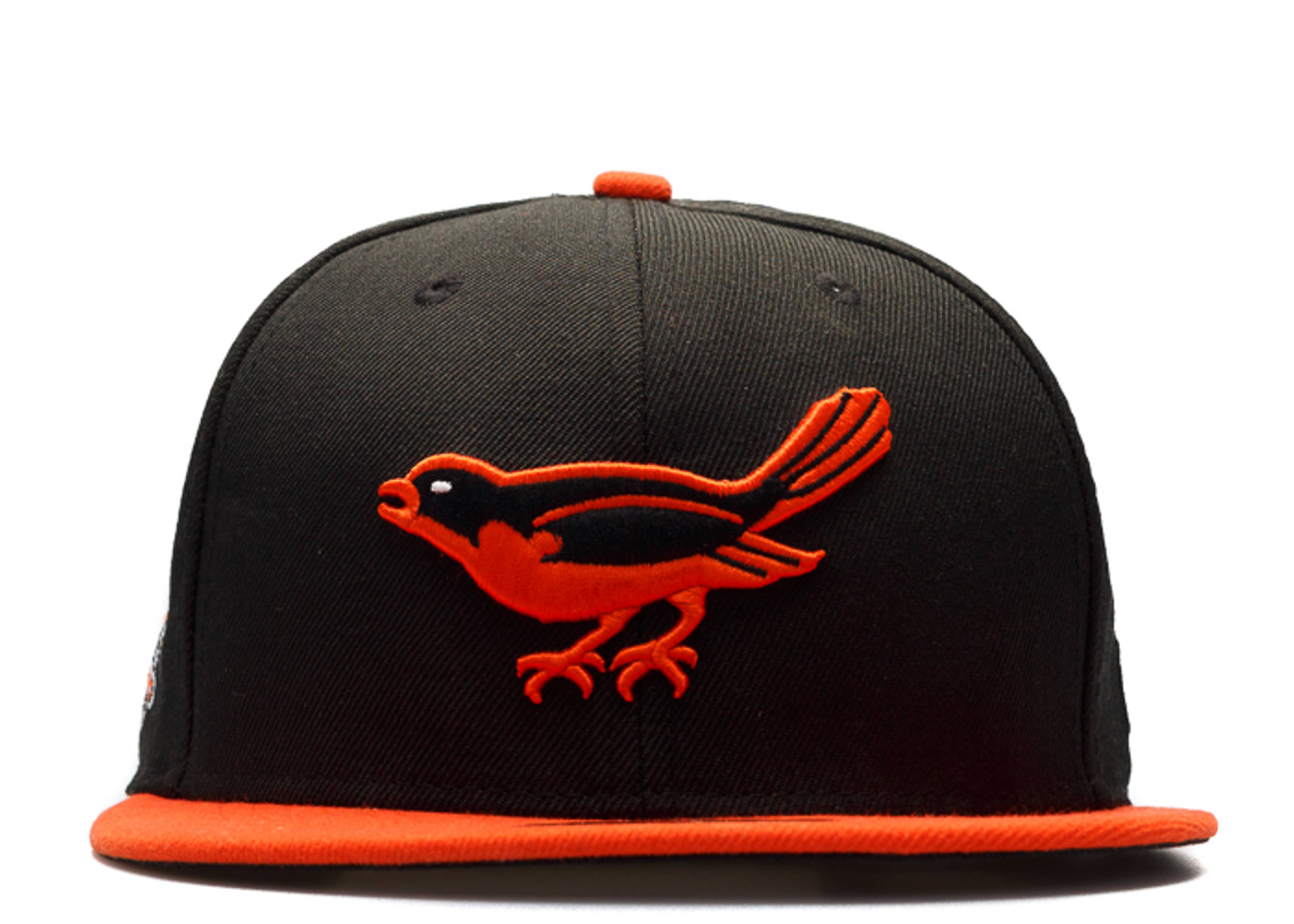 """balitmore orioles fitted """"side patch """"1958 all-star game"""""""""""