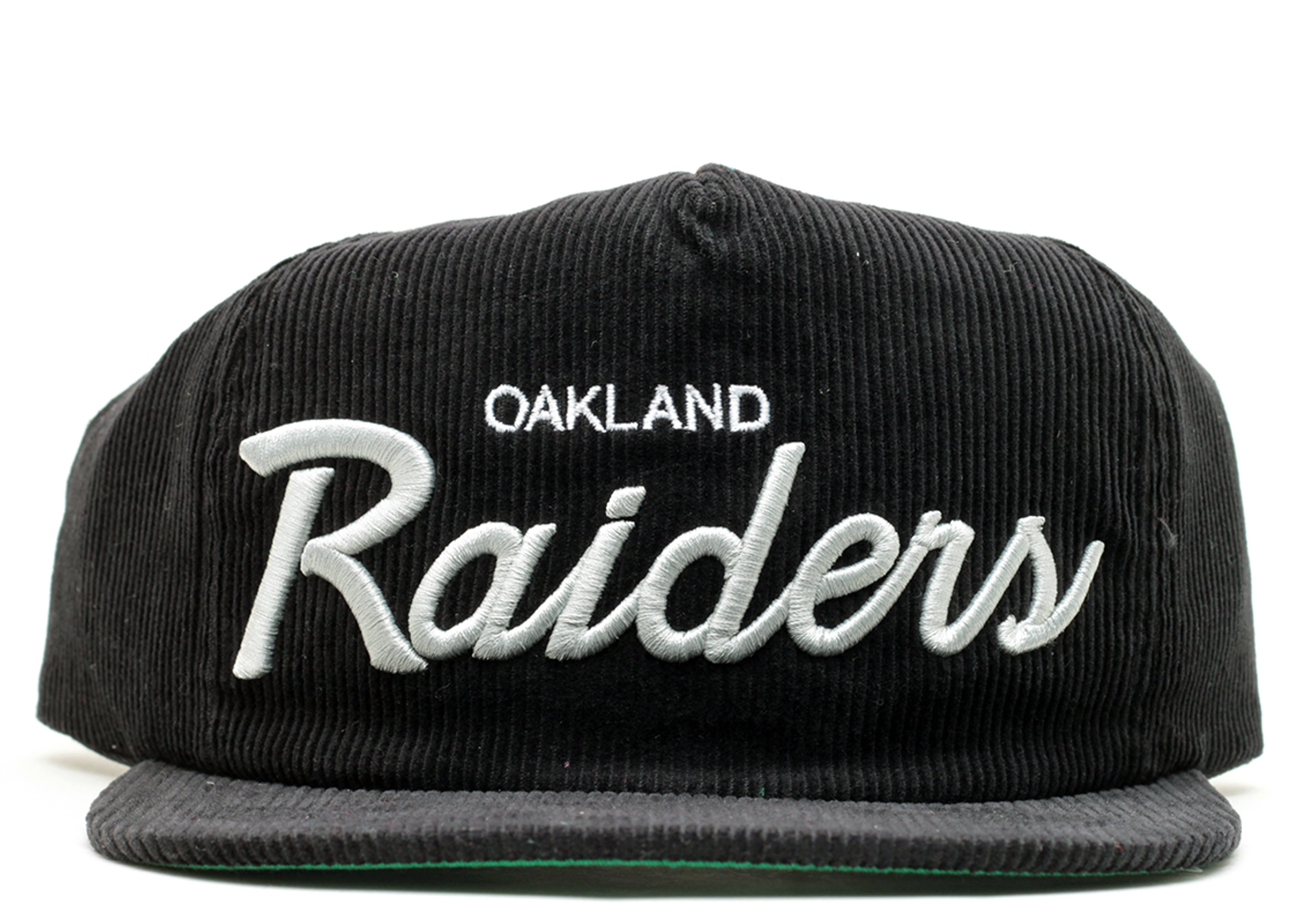 oakland raiders corduroy zip-back