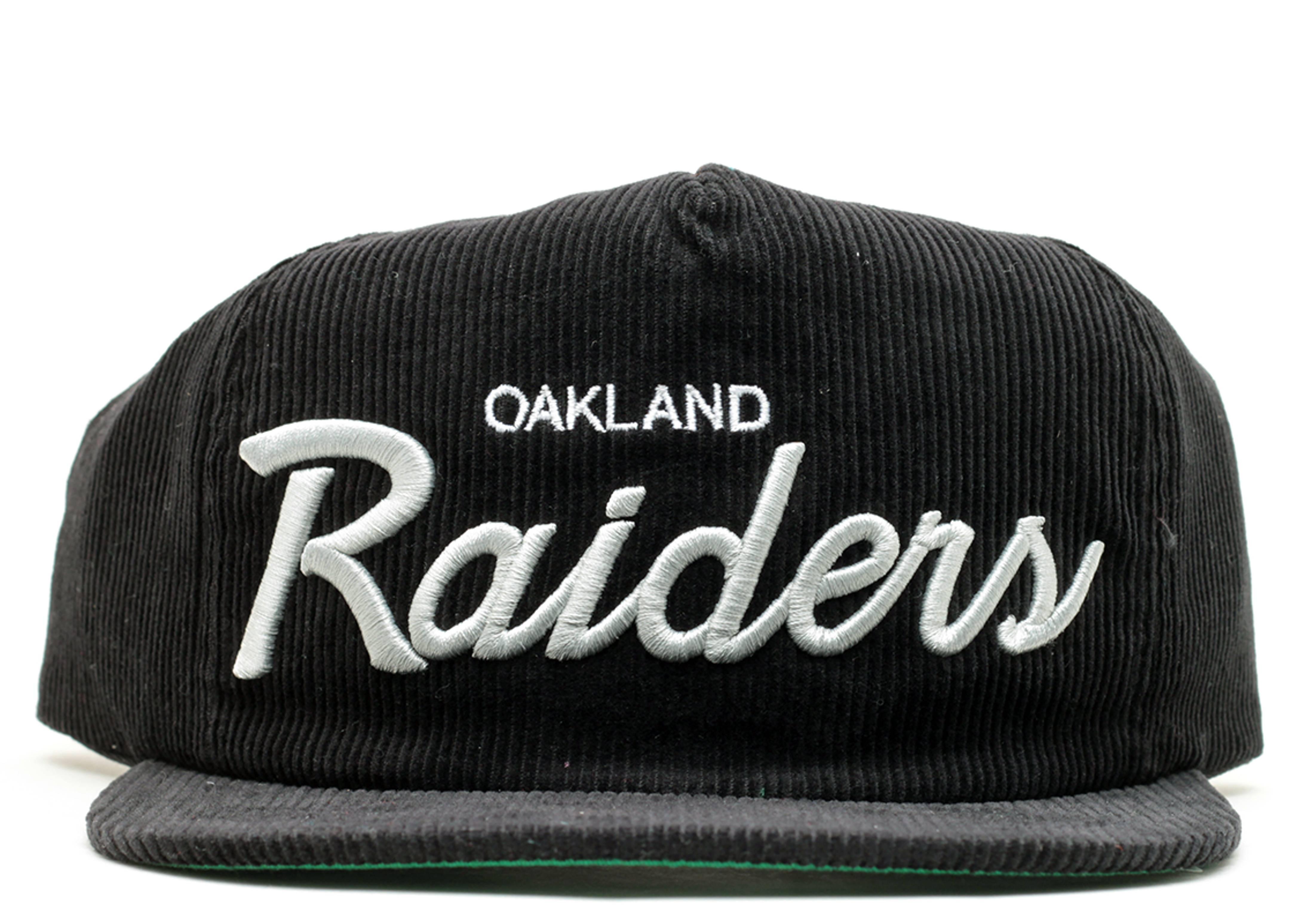 oakland raiders corduroy zip-back