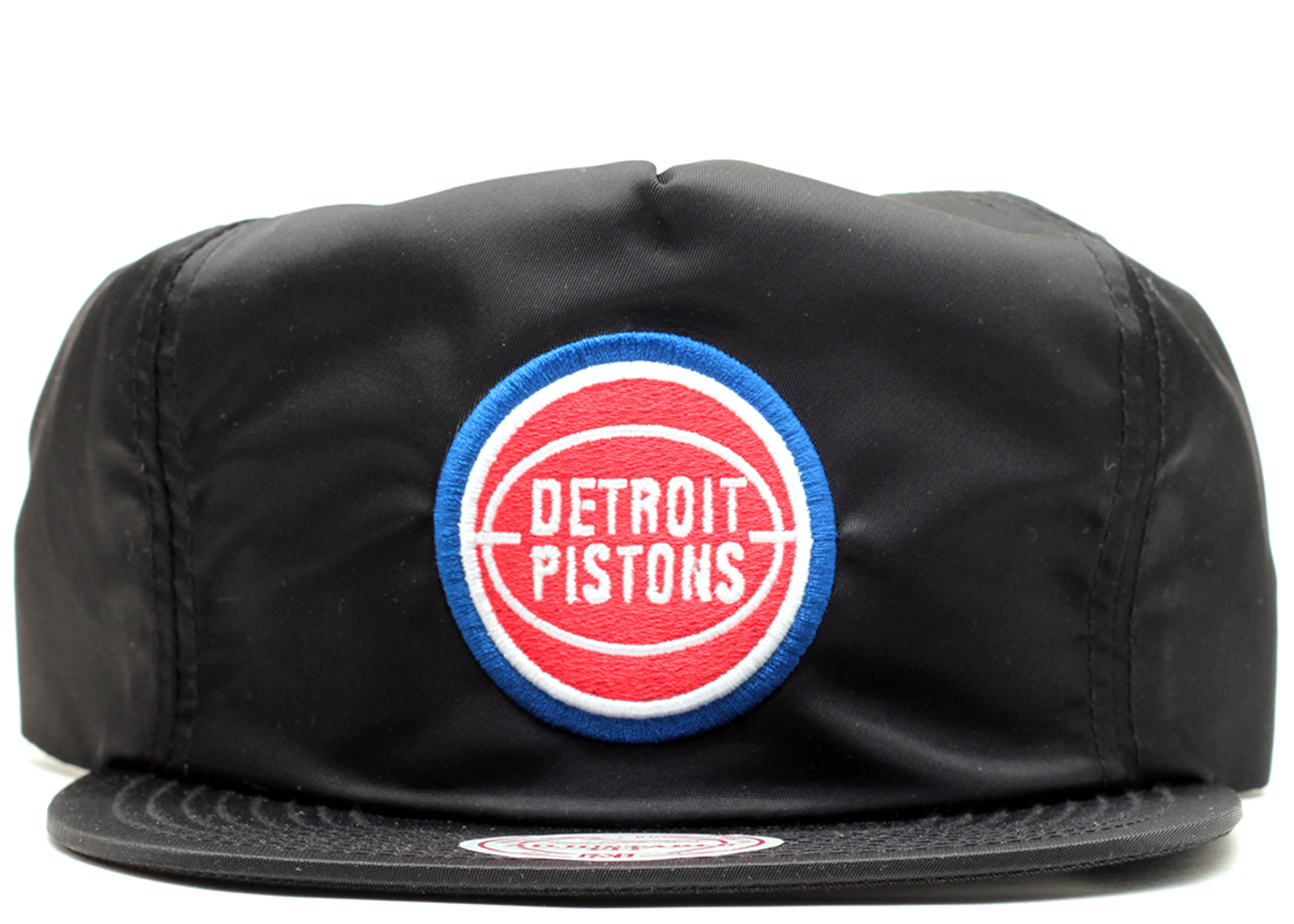 "detroit pistons zip-back ""nylon"""