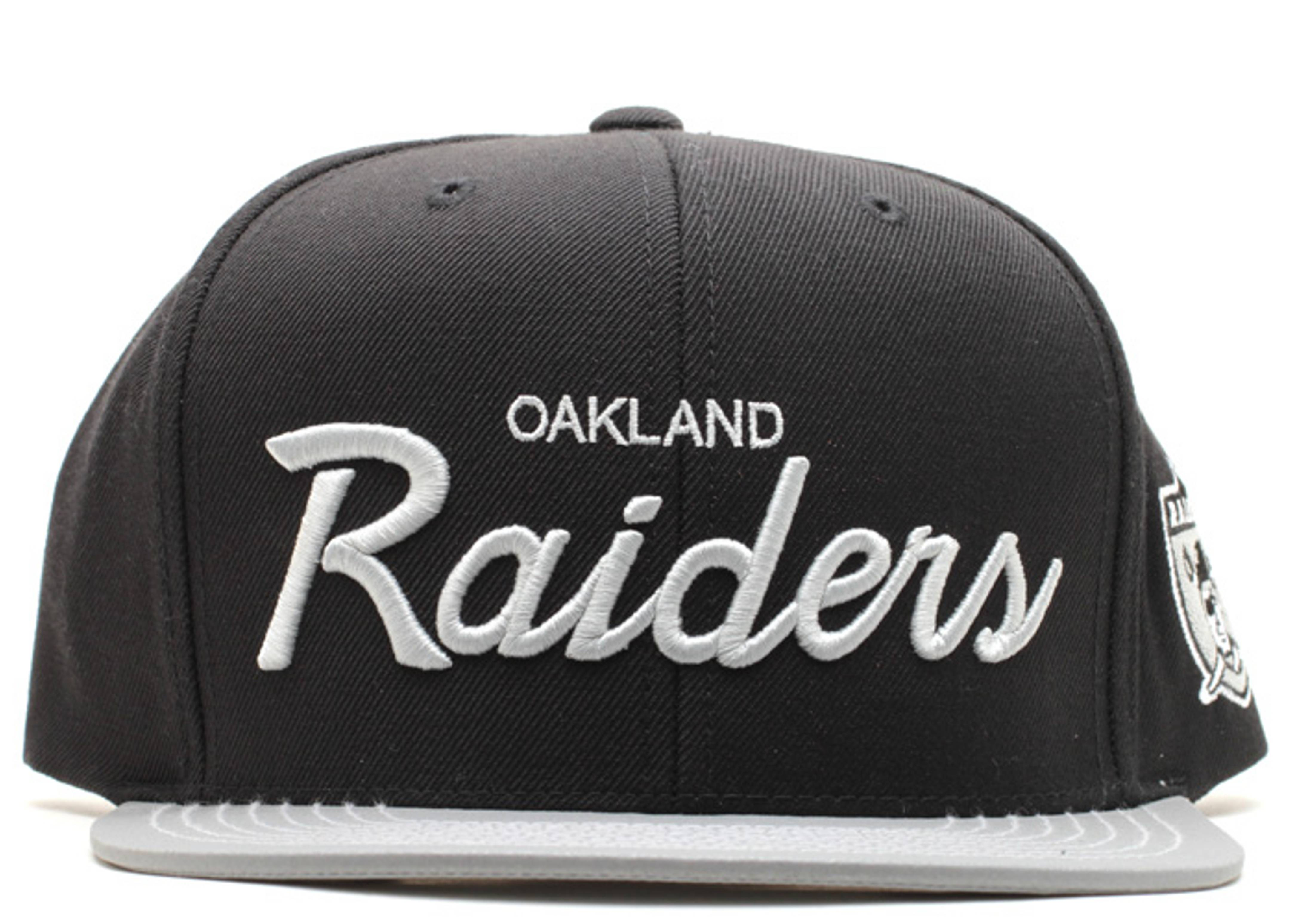 "oakland raiders snap-back ""3m"""