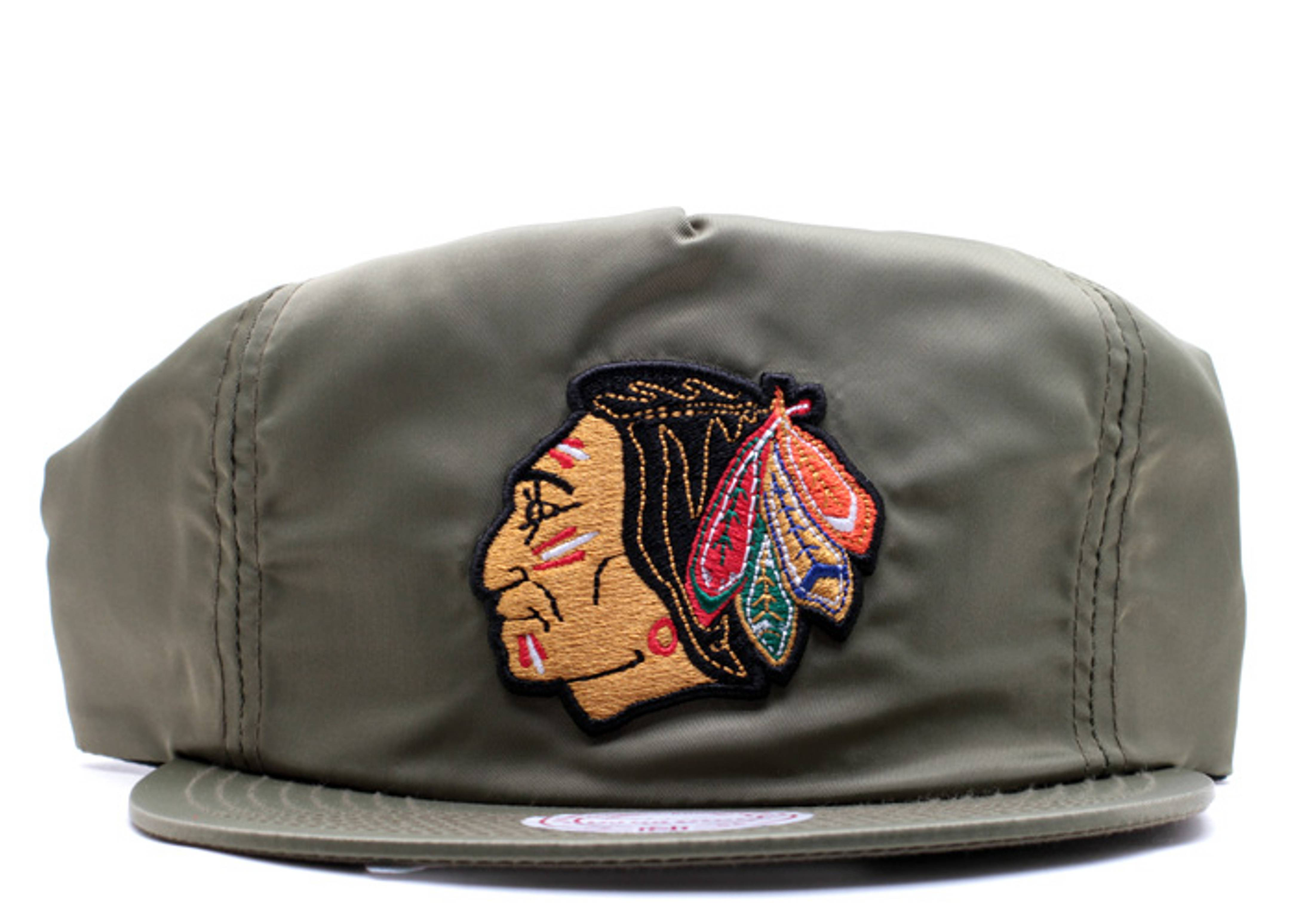 chicago blackhawks nylon zip-back