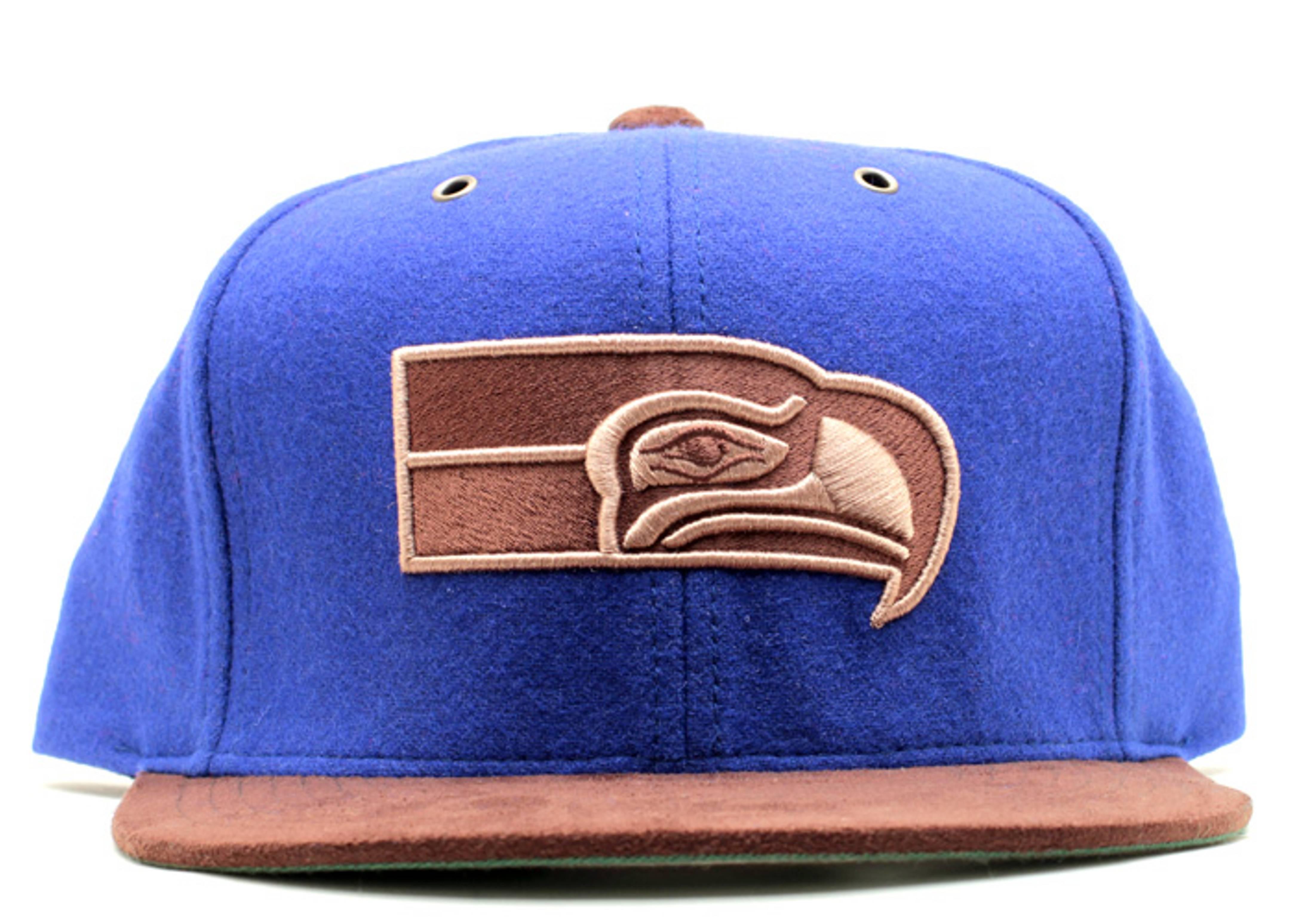 """seattle seahawks strap-back """"suede"""""""