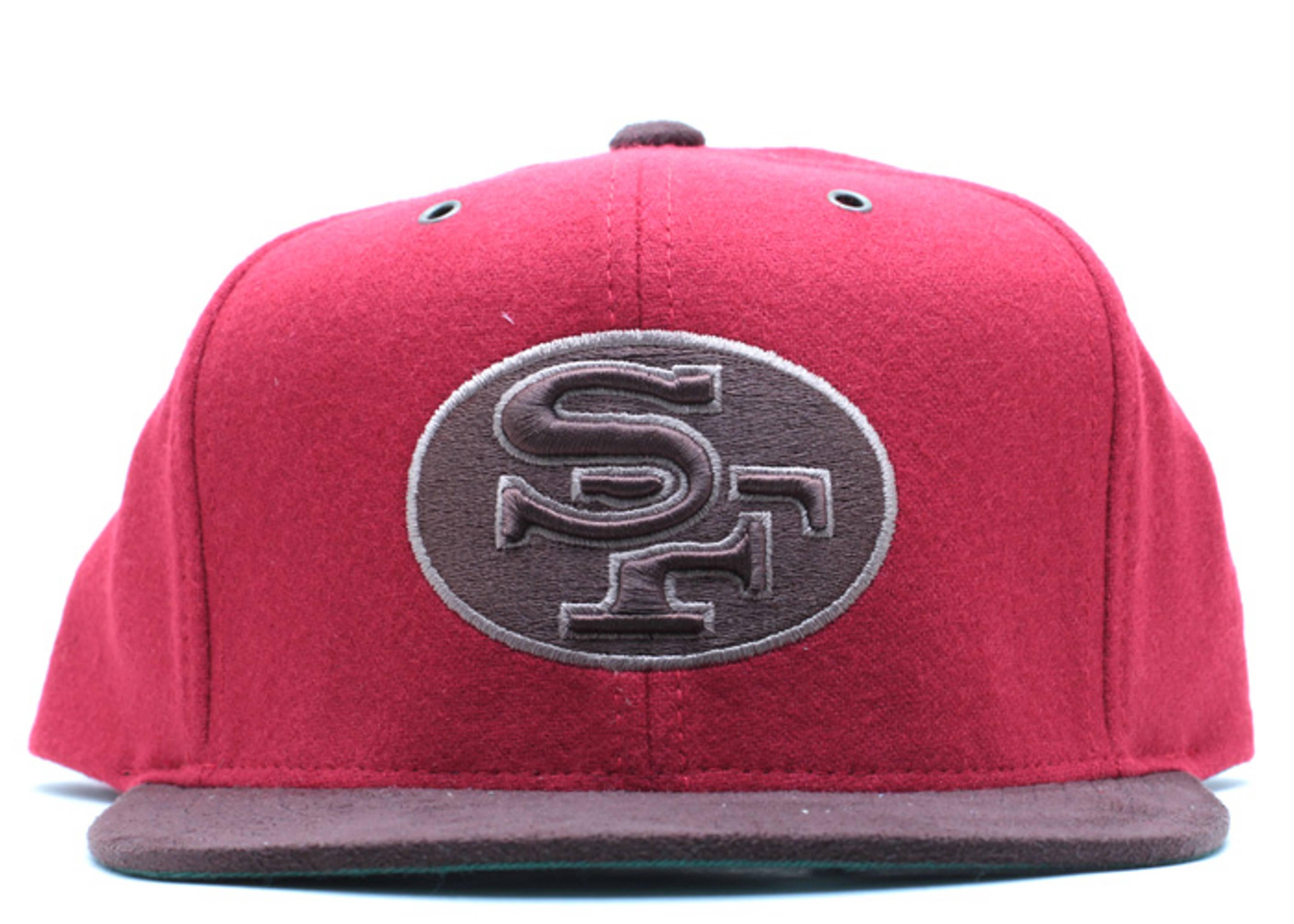 "san francisco 49ers strap-back ""suede"""