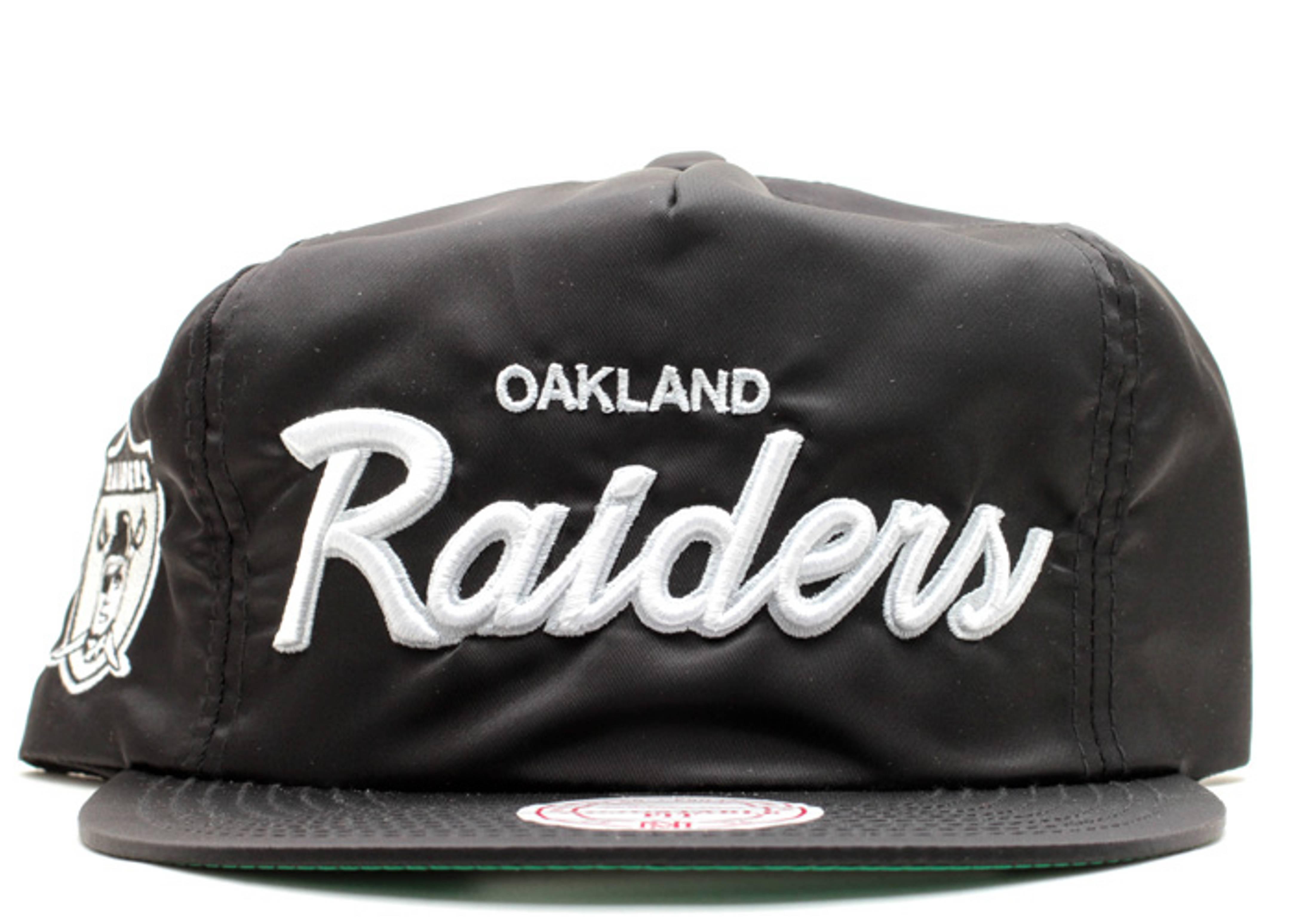 oakland raiders nylon zip-back
