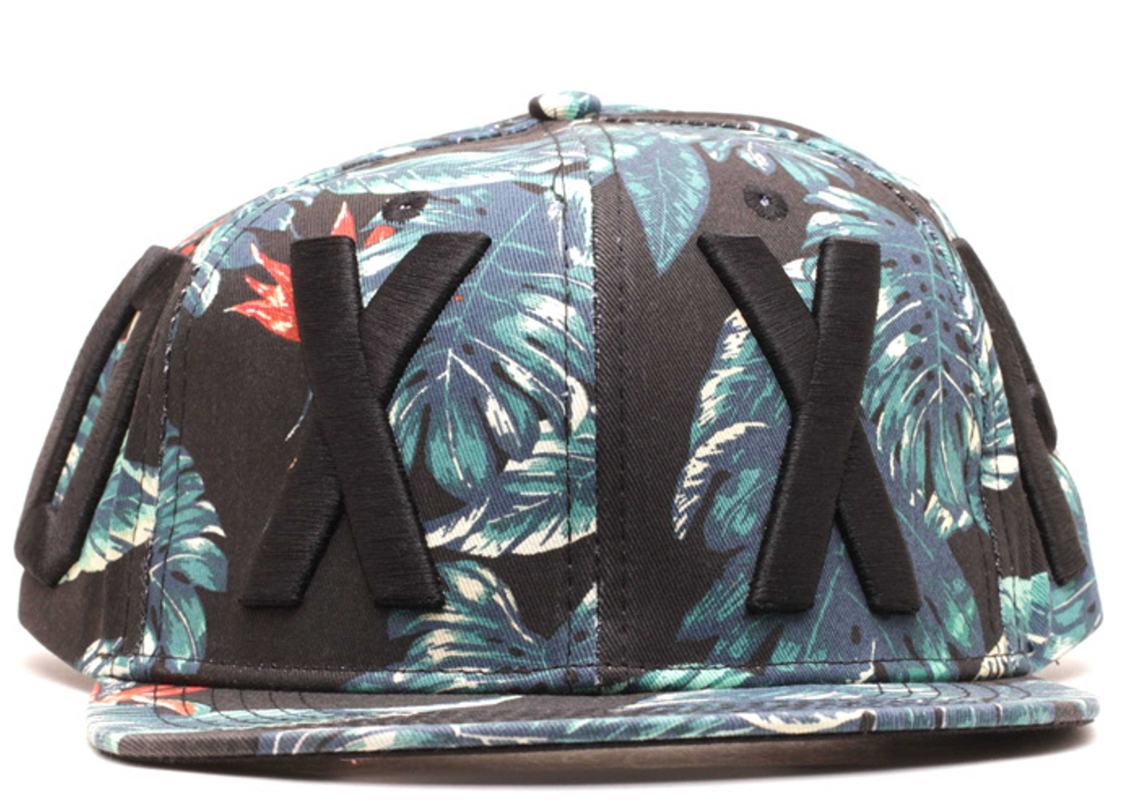 redacted floral strap-back