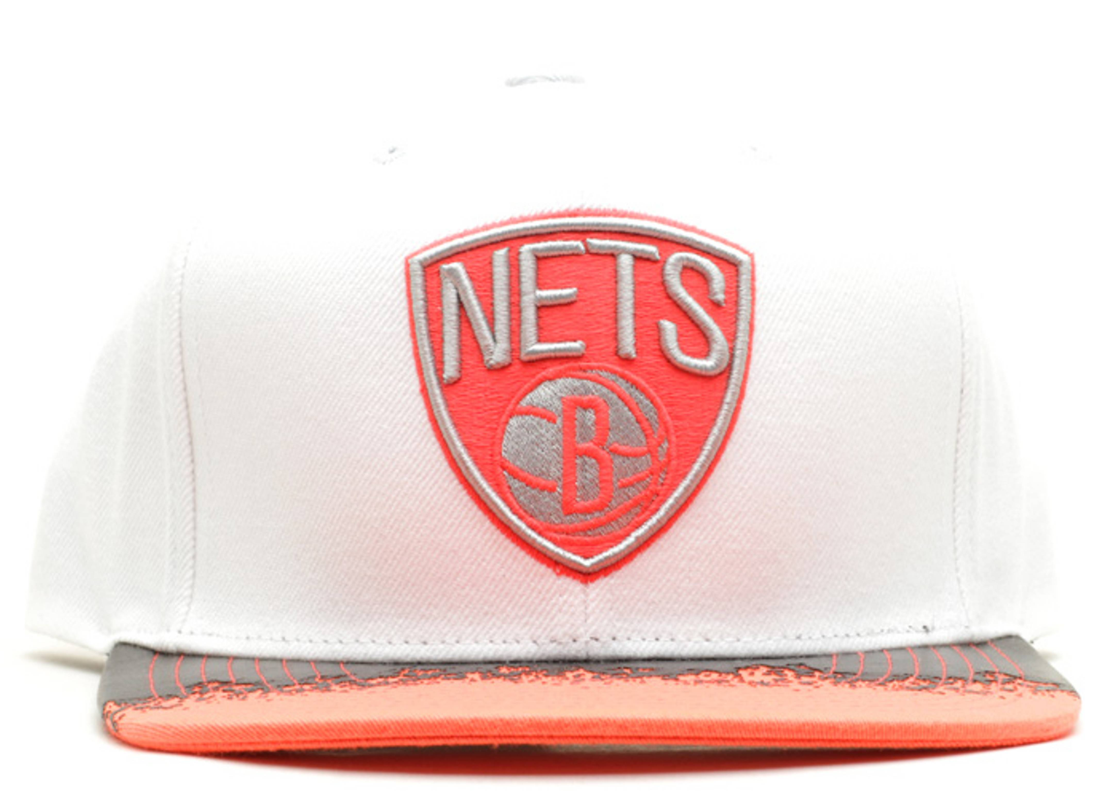"""brooklyn nets snap-back """"infrared"""""""