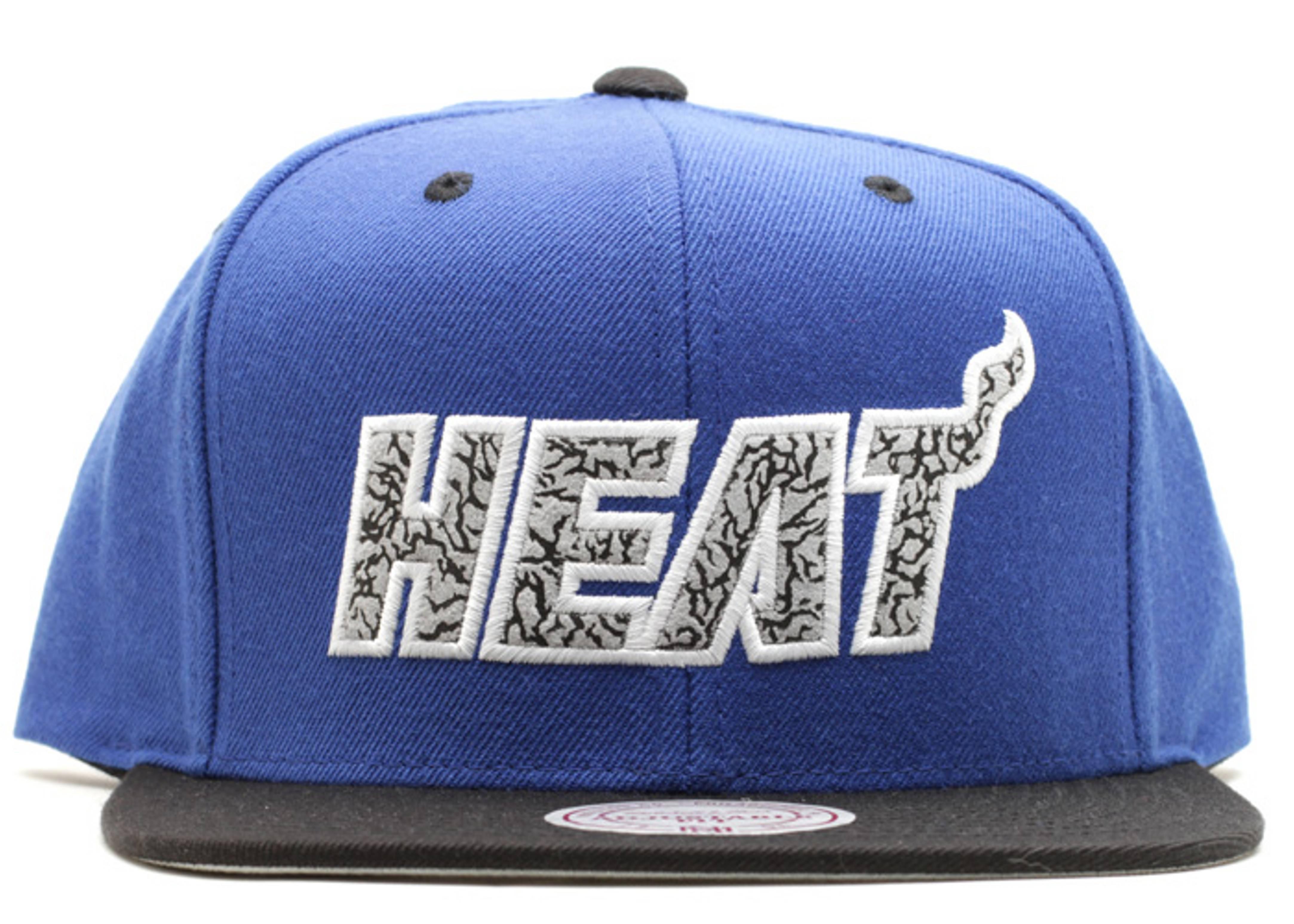 "miami heat snap-back ""sport blue"""