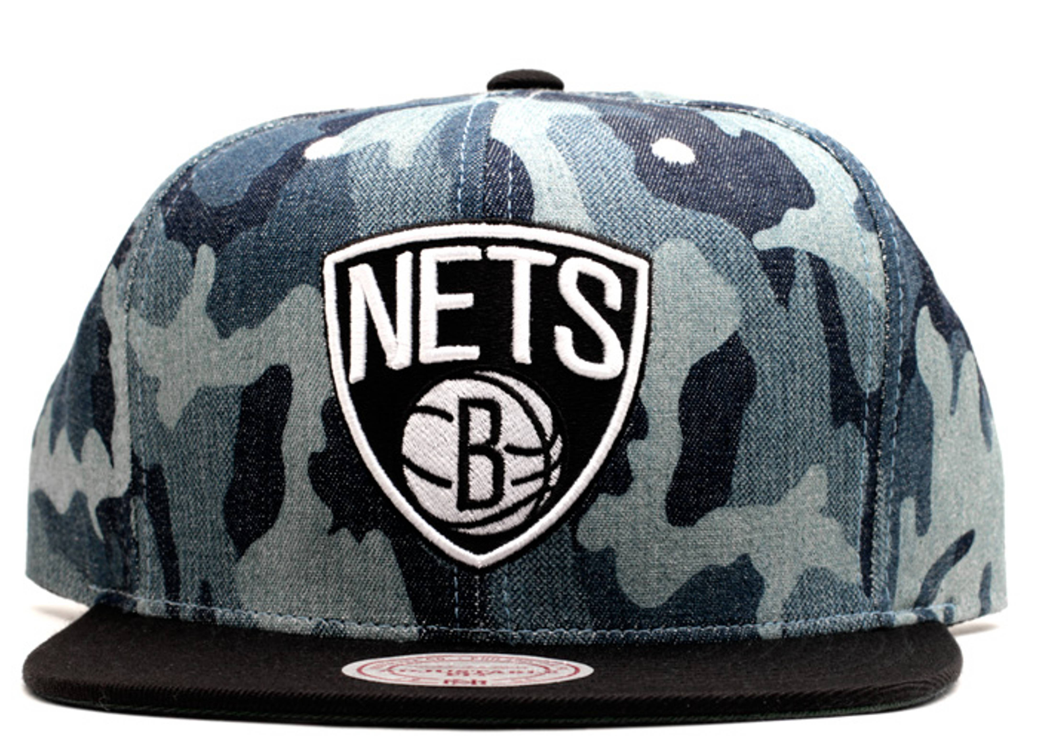 "brooklyn nets snap-back ""blue camo"""