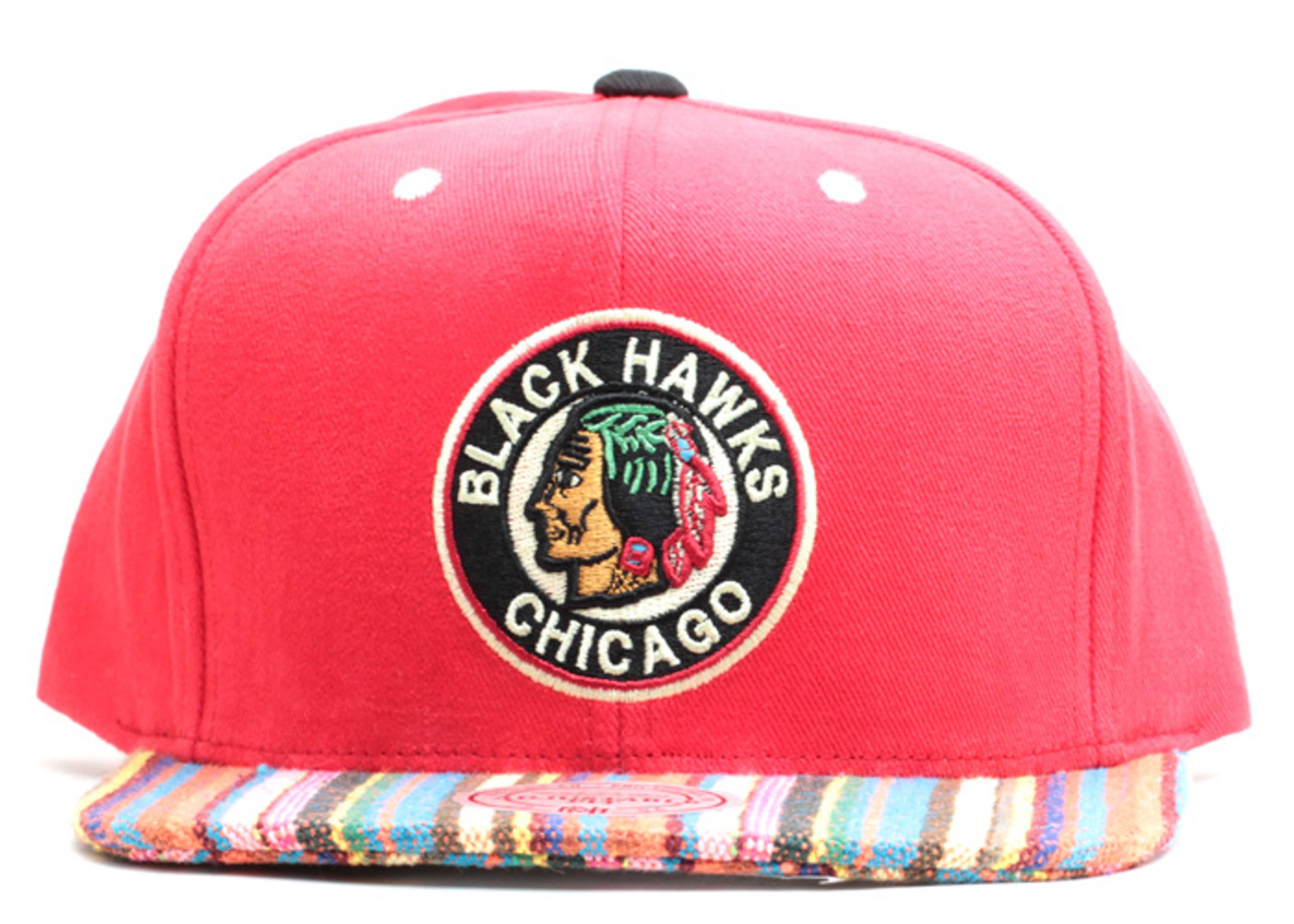 "chicago blackhawks snap-back ""native stripe"""